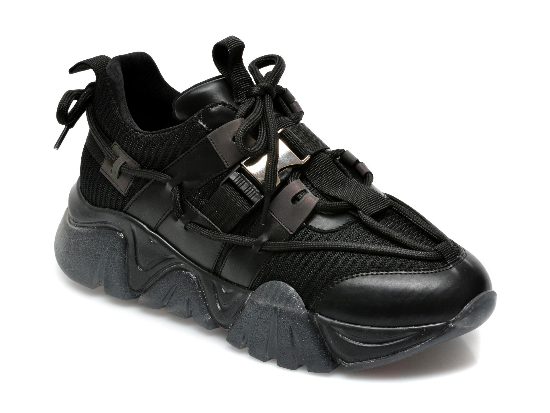 Pantofi sport GRYXX negri, T9104, din material textil si piele ecologica imagine otter.ro 2021