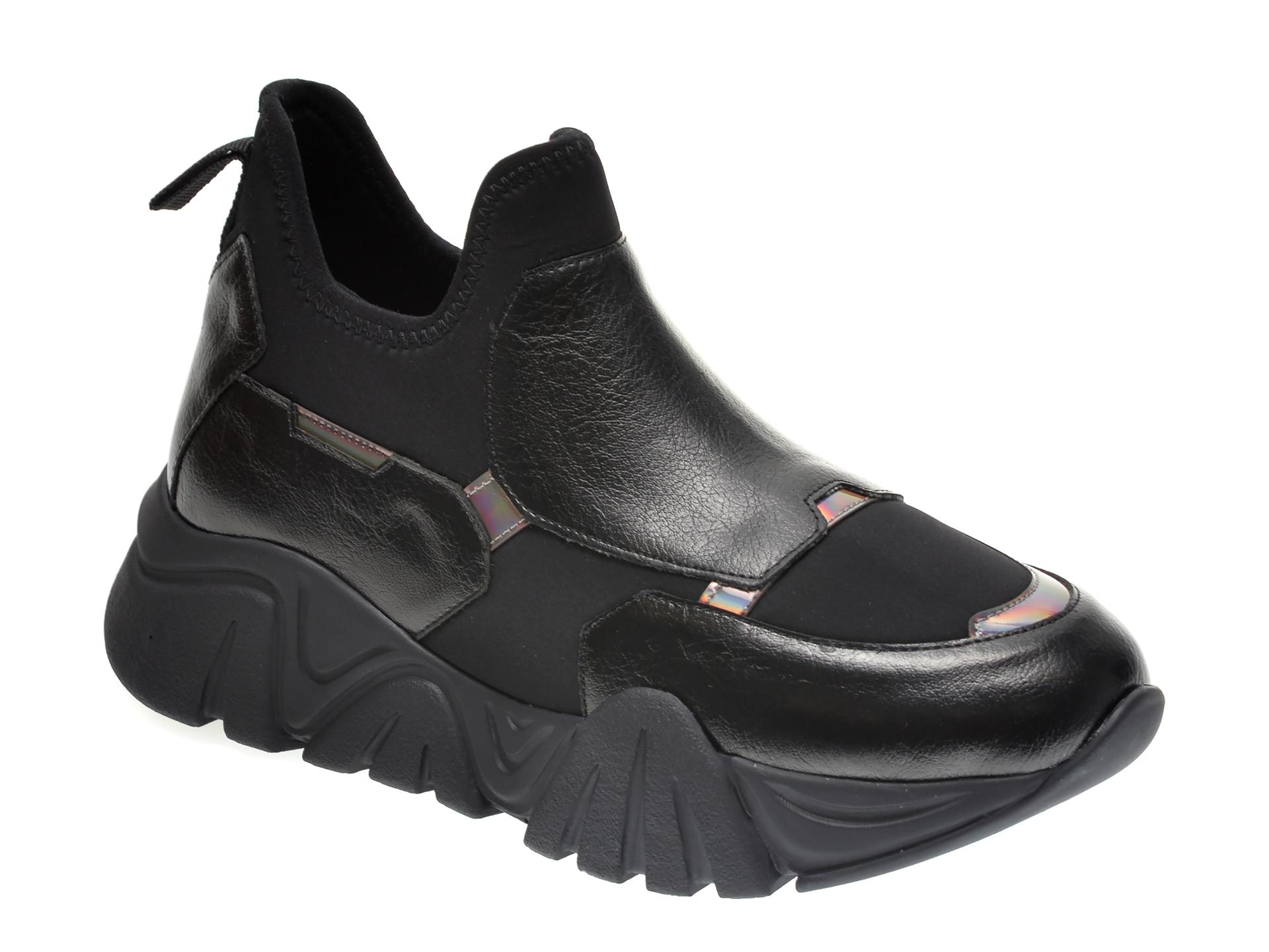 Pantofi sport GRYXX negri, T953, din material textil si piele ecologica imagine