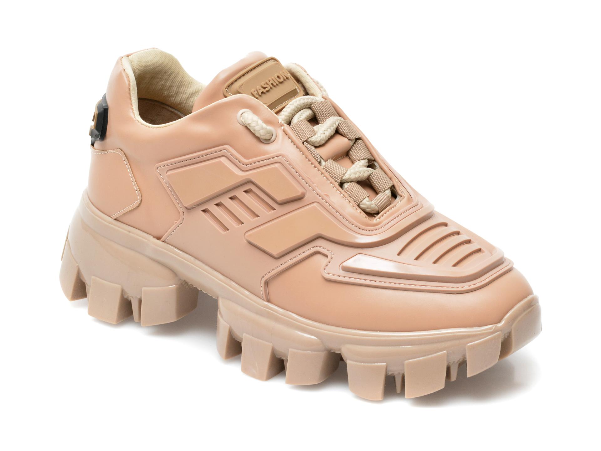 Pantofi sport GRYXX nude, MO12551, din piele ecologica