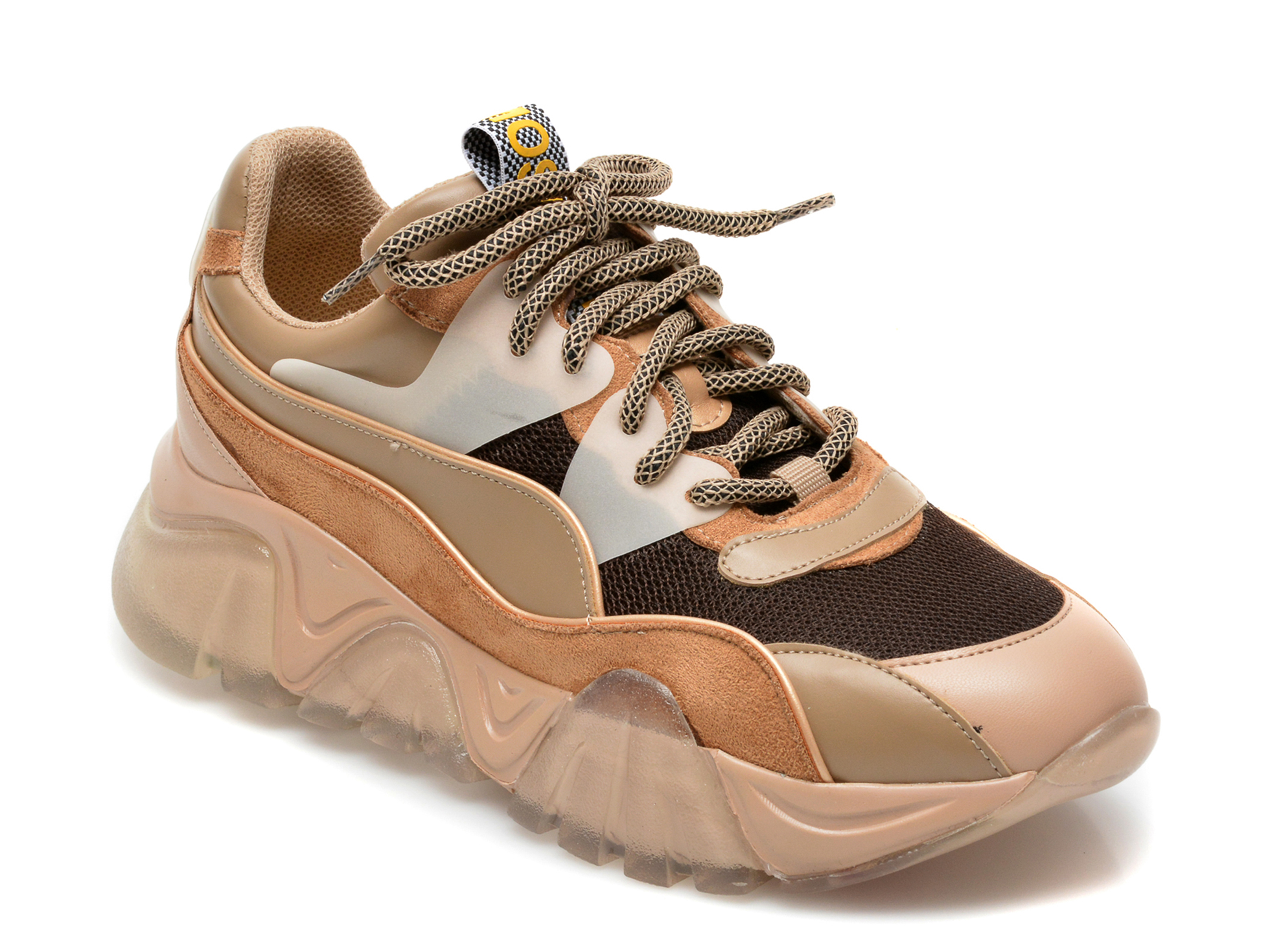 Pantofi sport GRYXX nude, T9103, din material textil si piele ecologica imagine otter.ro 2021