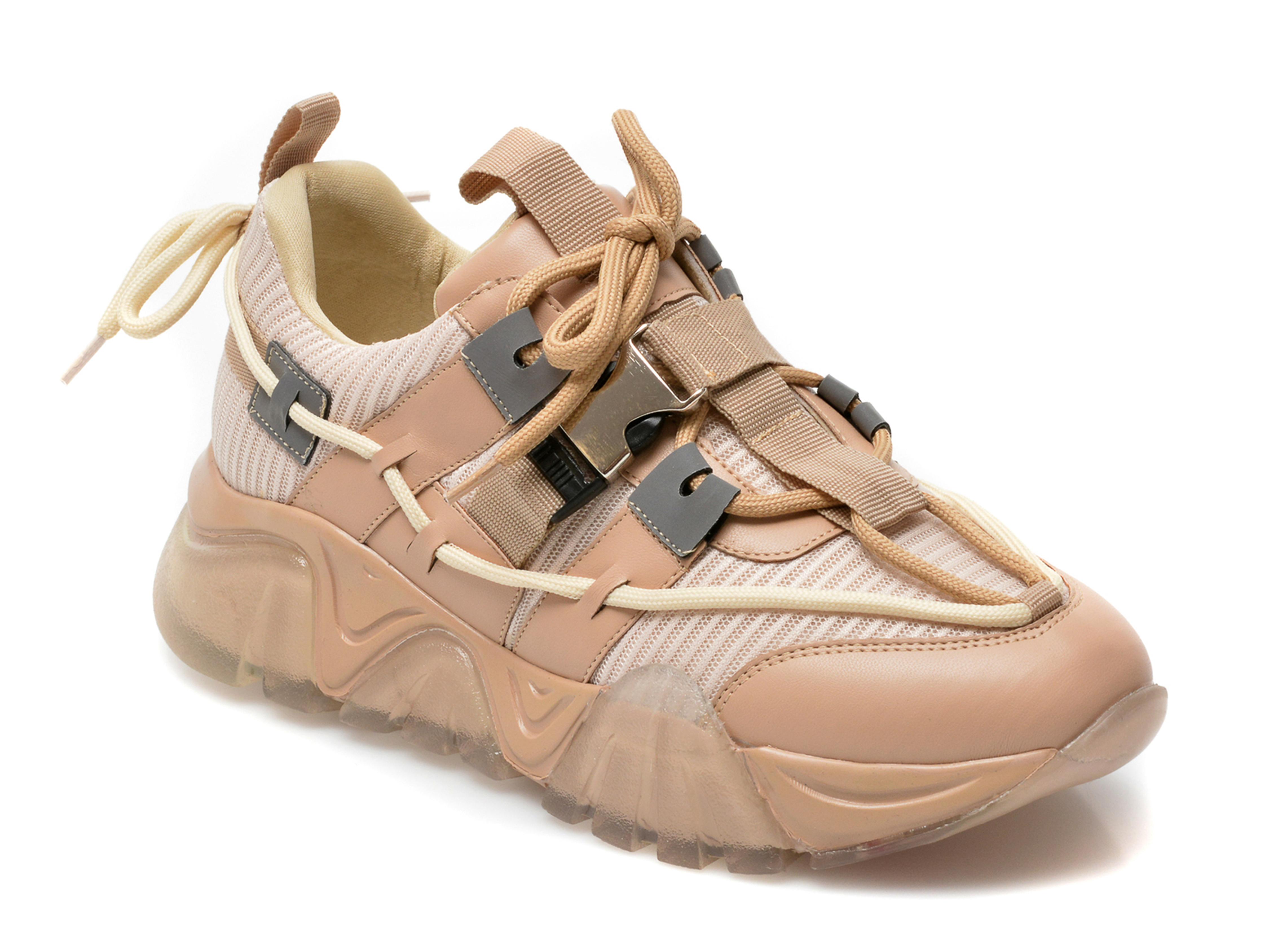 Pantofi sport GRYXX nude, T9104, din material textil si piele ecologica imagine otter.ro 2021