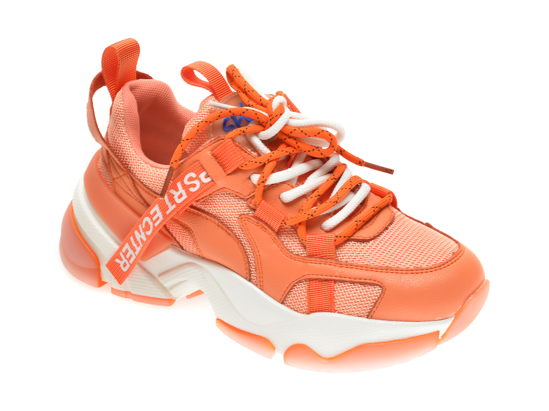 Pantofi sport GRYXX portocalii, 2091, din material textil si piele naturala imagine