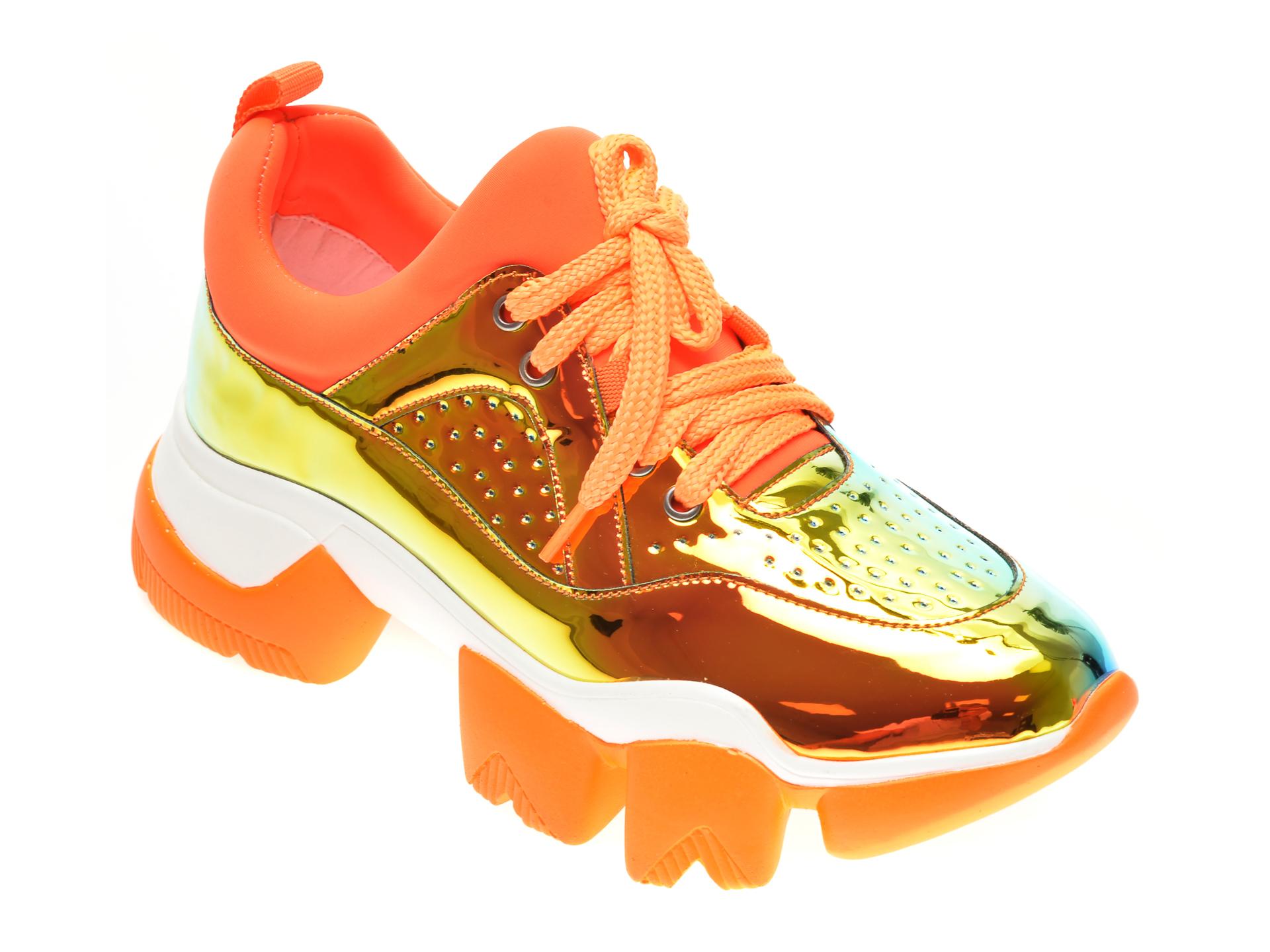 Pantofi sport GRYXX portocalii, M0992, din material textil si piele ecologica