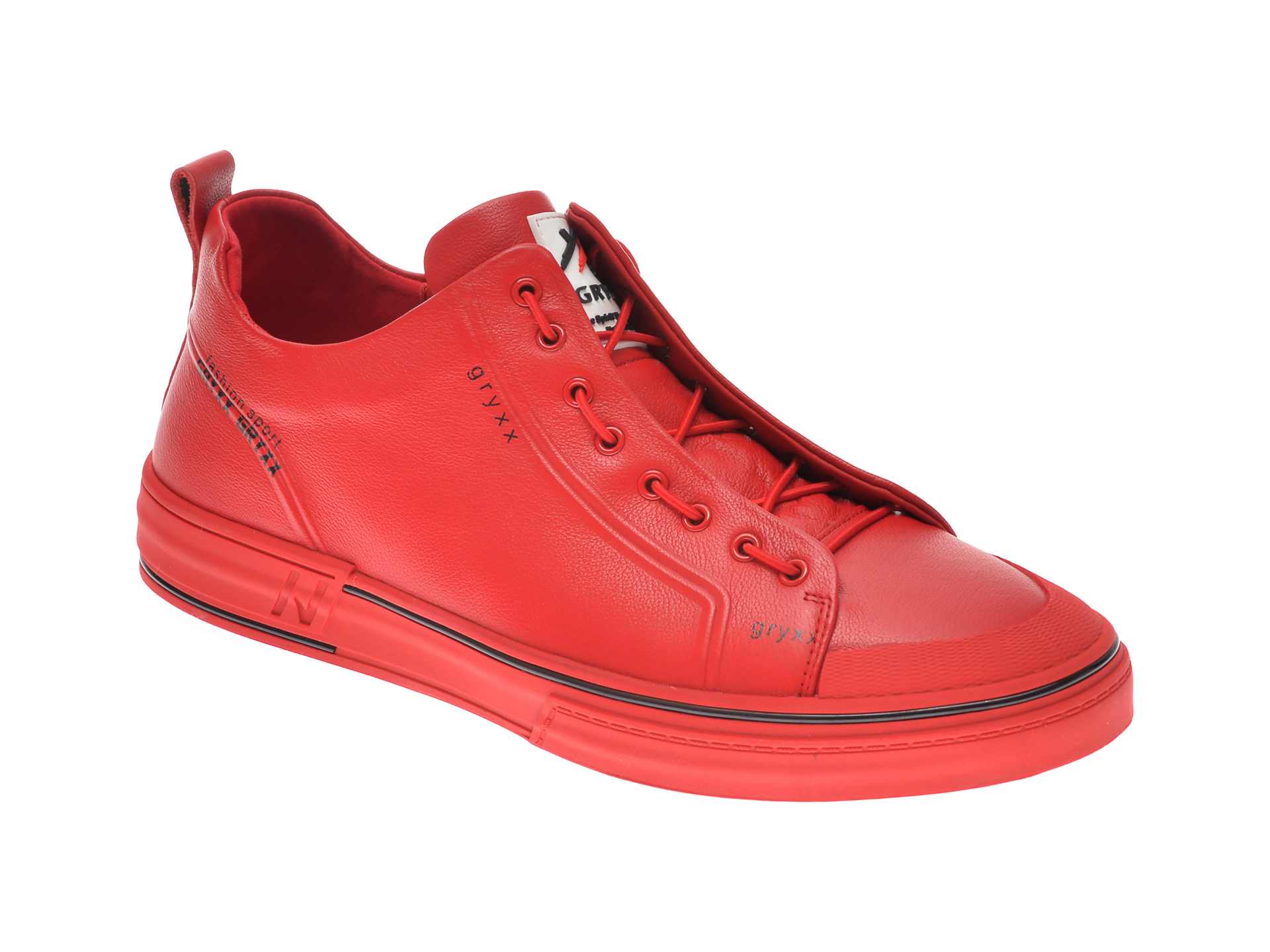 Pantofi sport GRYXX rosii, 208262, din piele naturala imagine