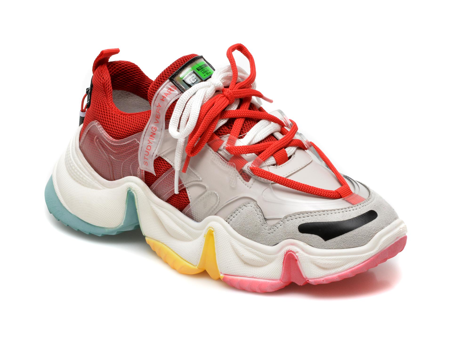 Pantofi sport GRYXX rosii, MO1532, din material textil si piele ecologica imagine otter.ro 2021