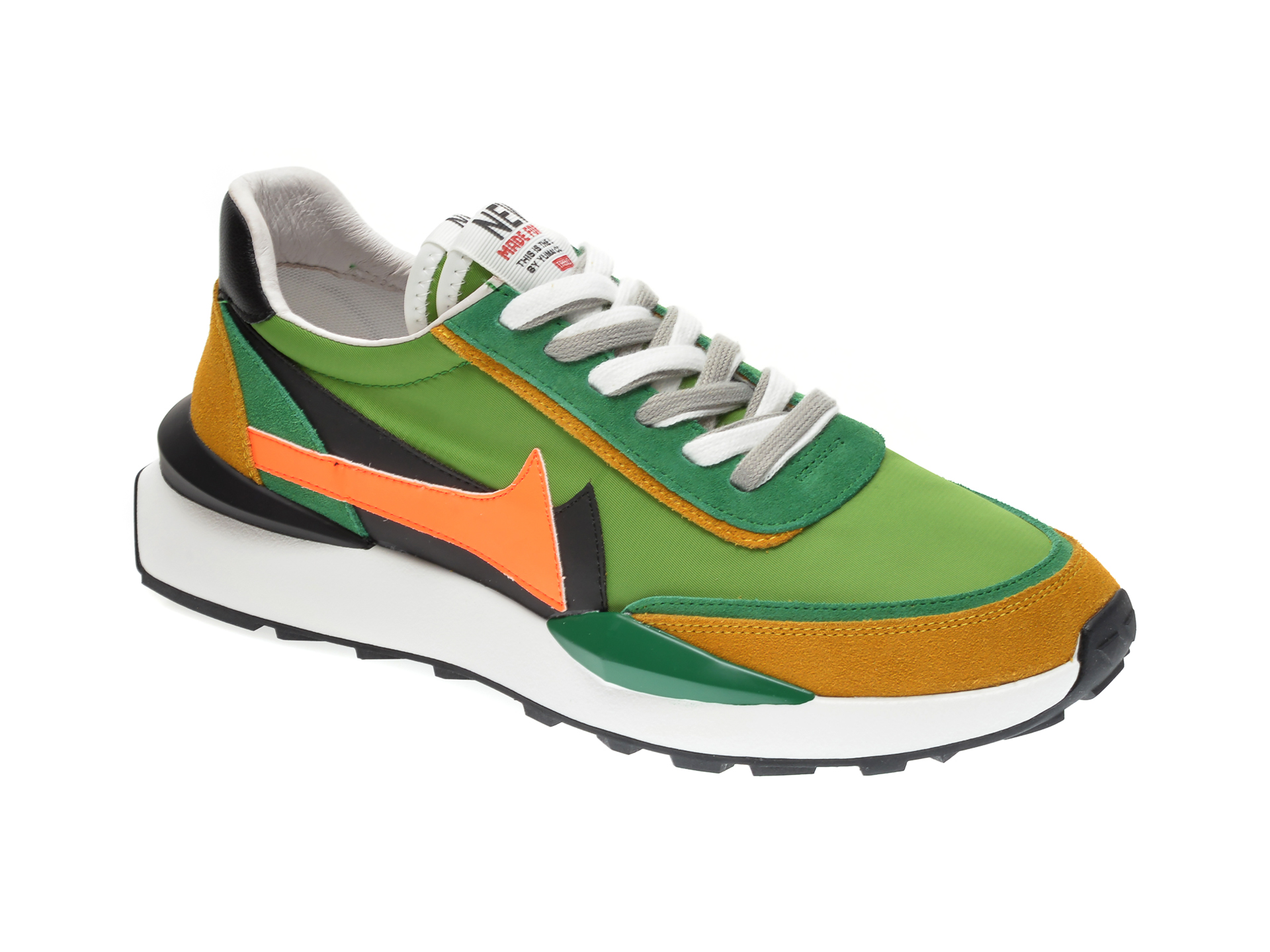 Pantofi sport GRYXX verzi, 207016, din material textil si piele intoarsa imagine