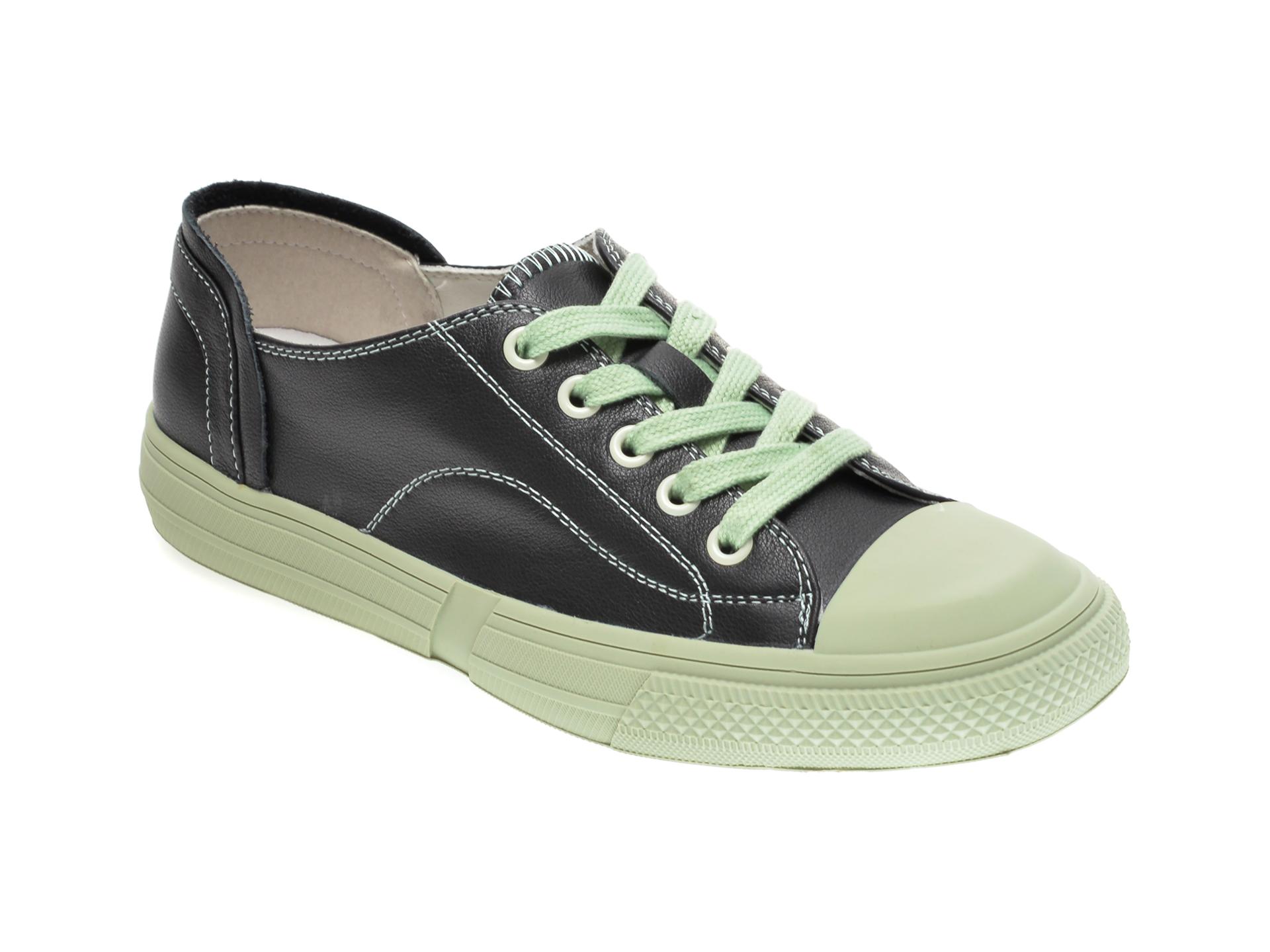 Pantofi sport GRYXX verzi, 6611, din piele naturala