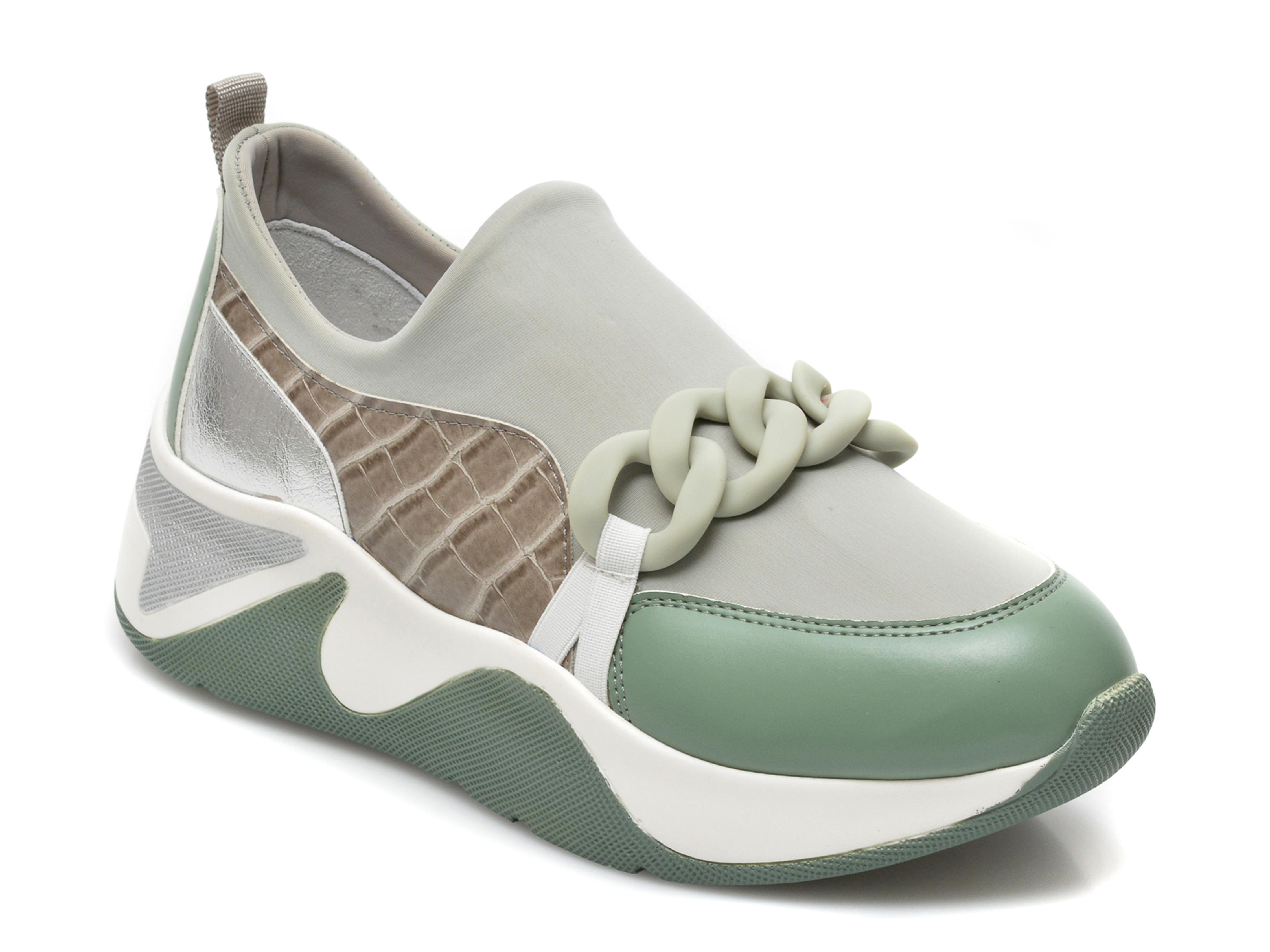 Pantofi sport GRYXX verzi, MK1102, din material textil si piele ecologica imagine otter.ro 2021