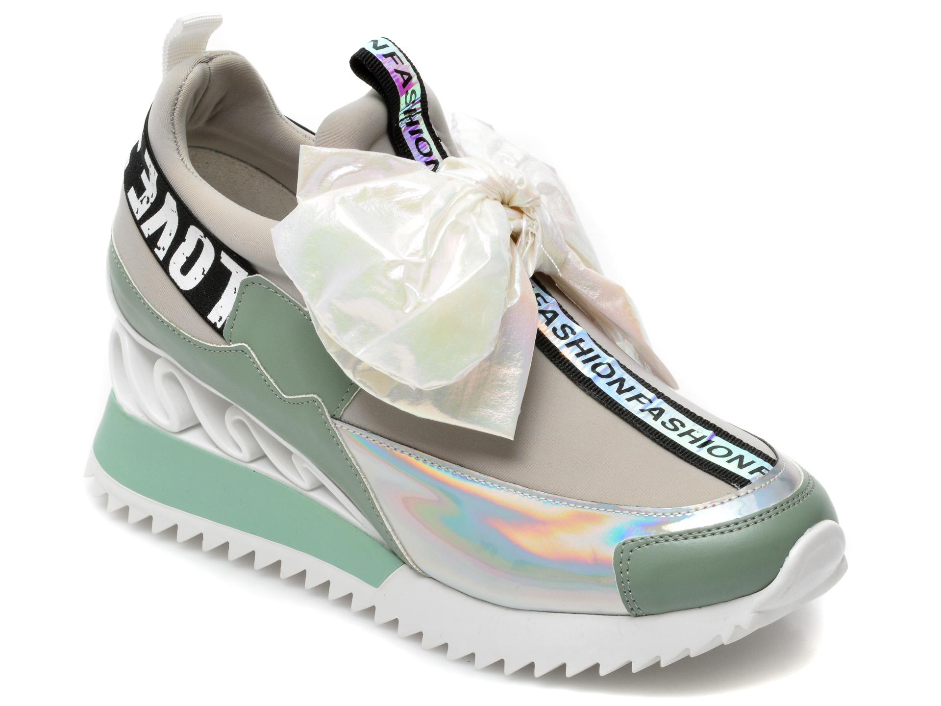 Pantofi sport GRYXX verzi, MK88107, din material textil si piele ecologica imagine otter.ro 2021