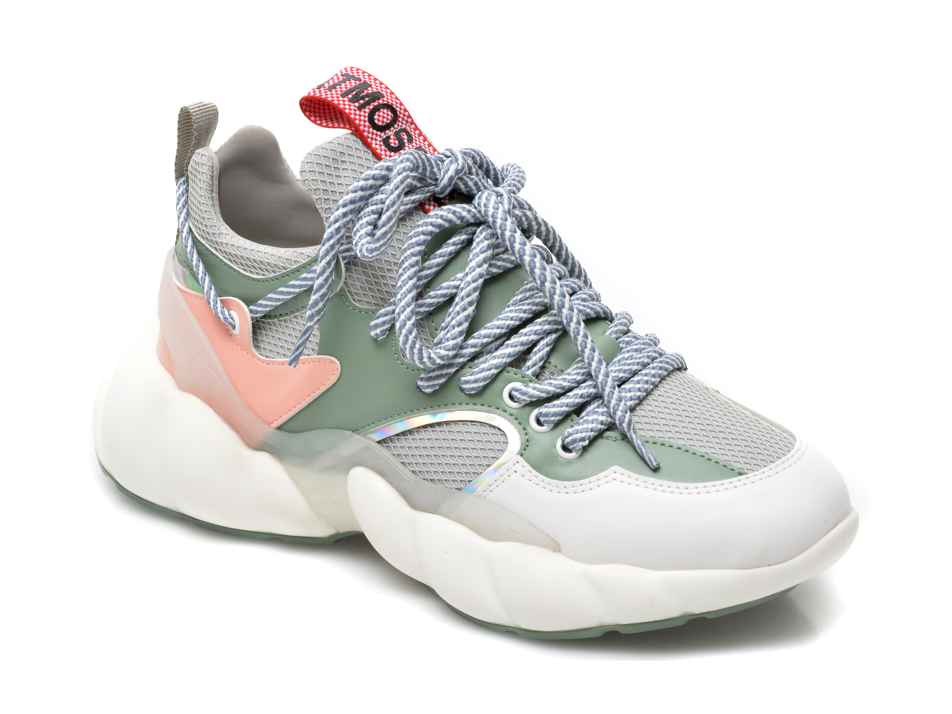 Pantofi sport GRYXX verzi, MO1545, din material textil si piele ecologica imagine otter.ro 2021