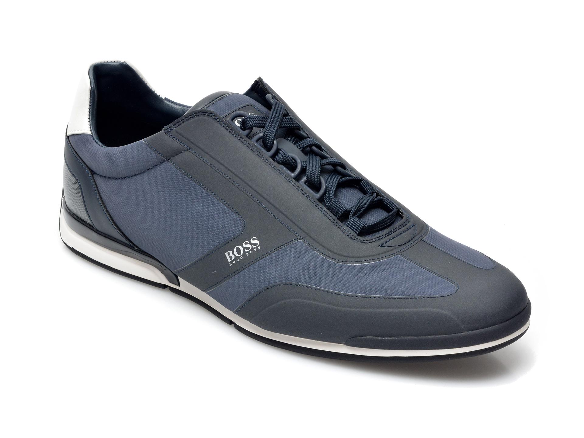 Pantofi sport HUGO BOSS bleumarin, 2024, din material textil si piele ecologica imagine otter.ro 2021