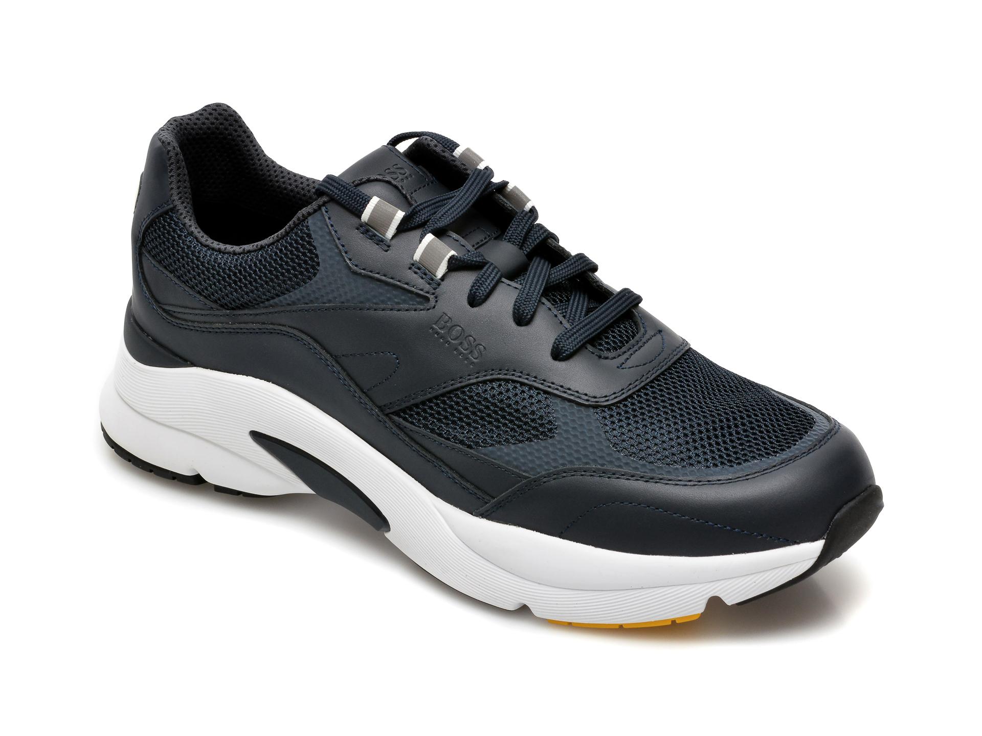 Pantofi sport HUGO BOSS bleumarin, 2049, din material textil si piele naturala imagine