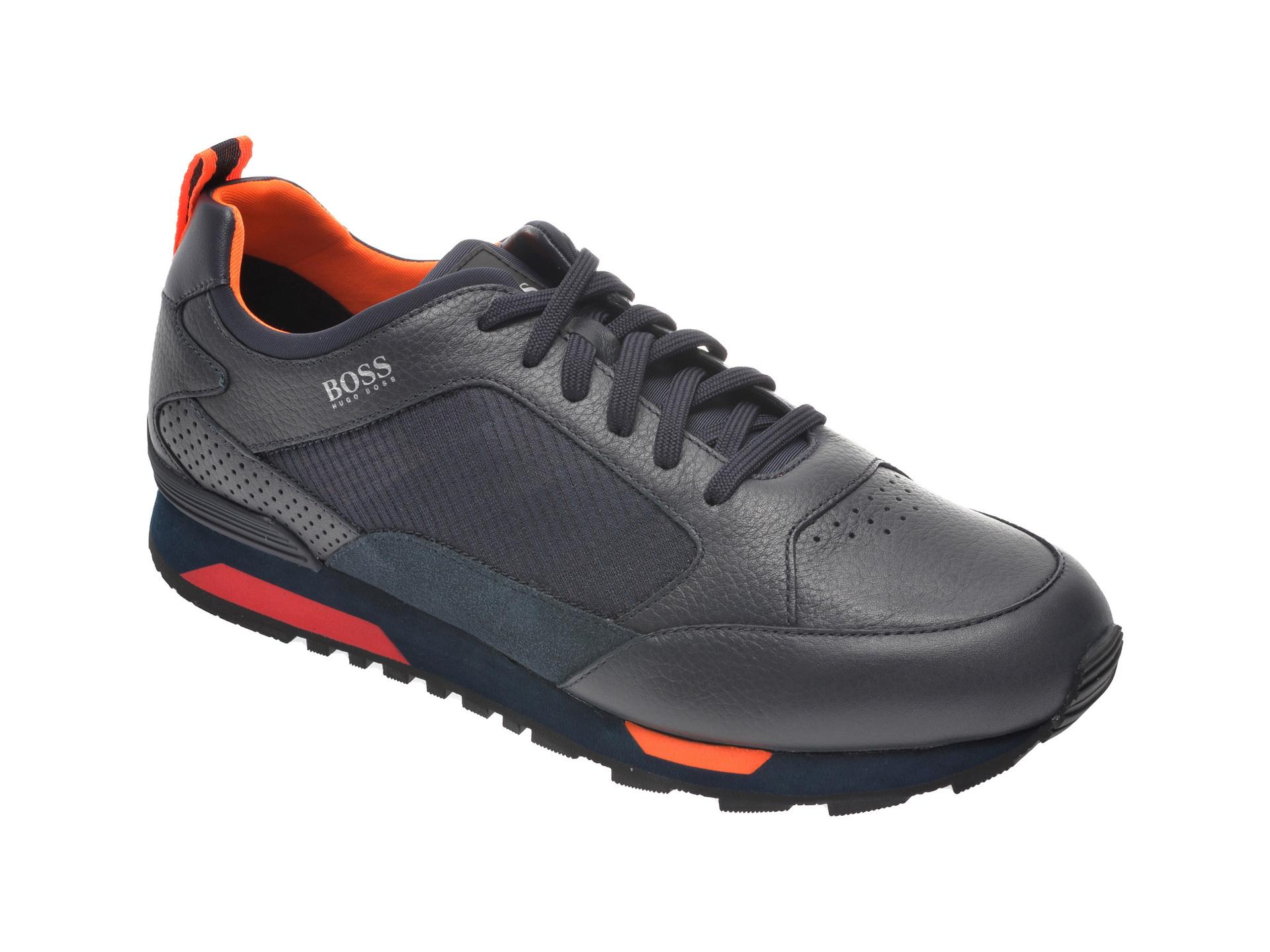 Pantofi sport HUGO BOSS bleumarin, 8483, din material textil si piele naturala imagine