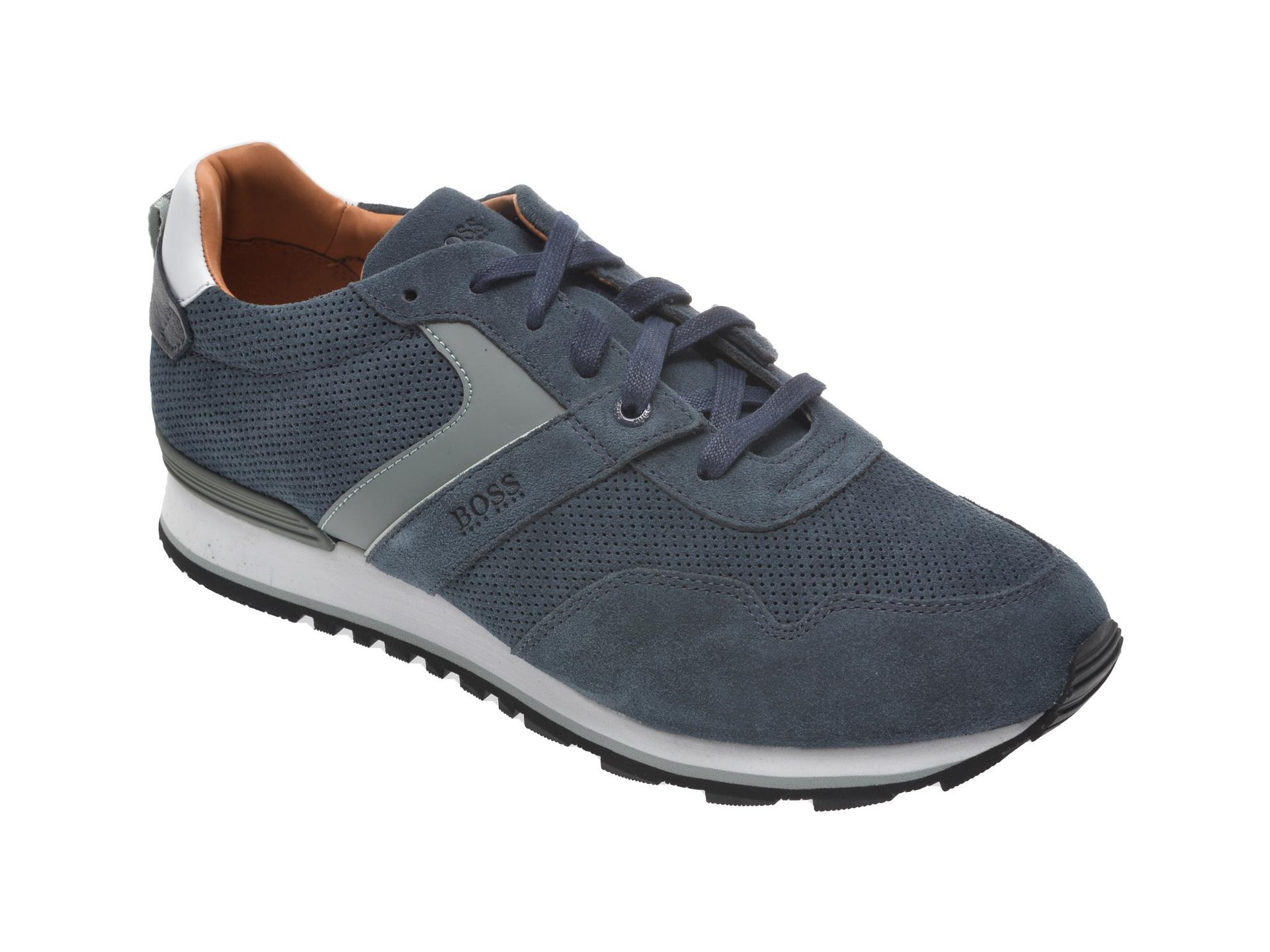 Pantofi sport HUGO BOSS bleumarin, 8495, din piele intoarsa