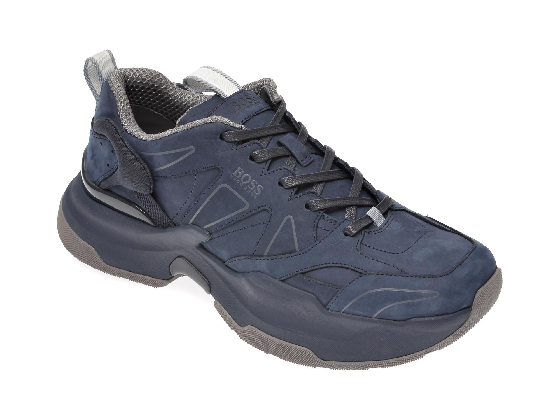 Pantofi sport HUGO BOSS bleumarin, 8593, din piele naturala imagine