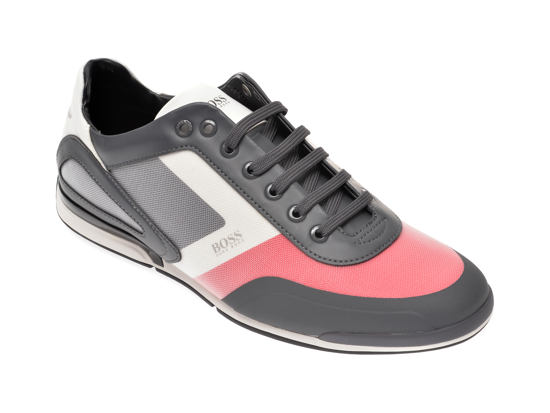 Pantofi sport HUGO BOSS gri, 8234, din material textil imagine