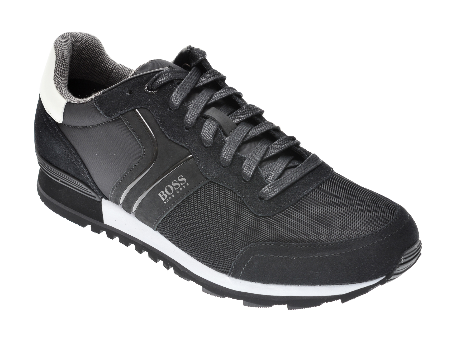 Pantofi sport HUGO BOSS negri, 3661, din material textil imagine