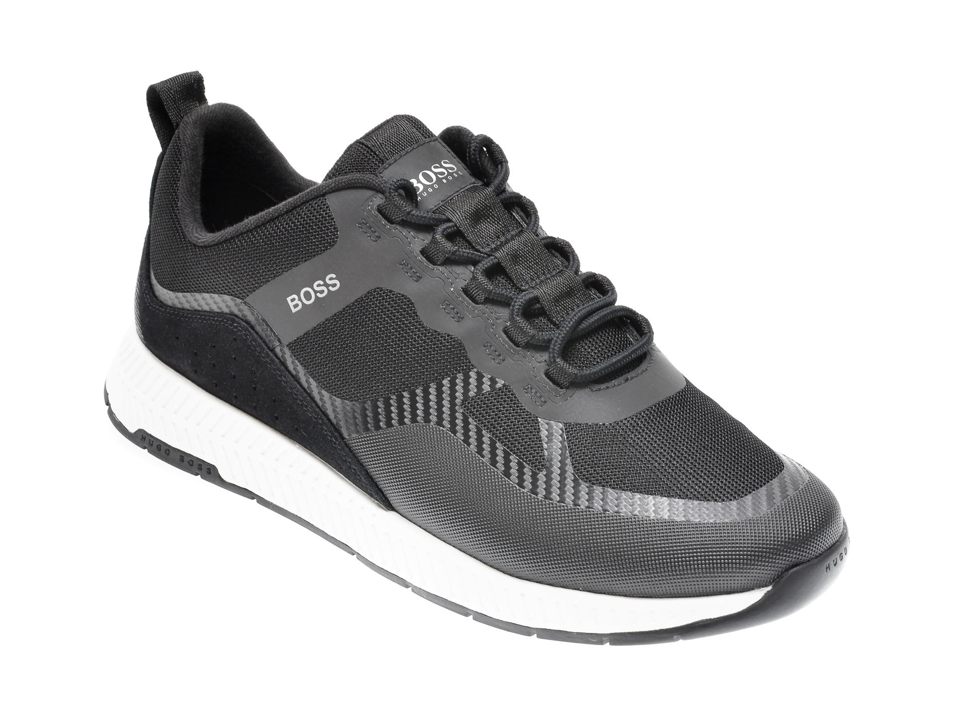 Pantofi sport HUGO BOSS negri, 774, din material textil imagine otter.ro