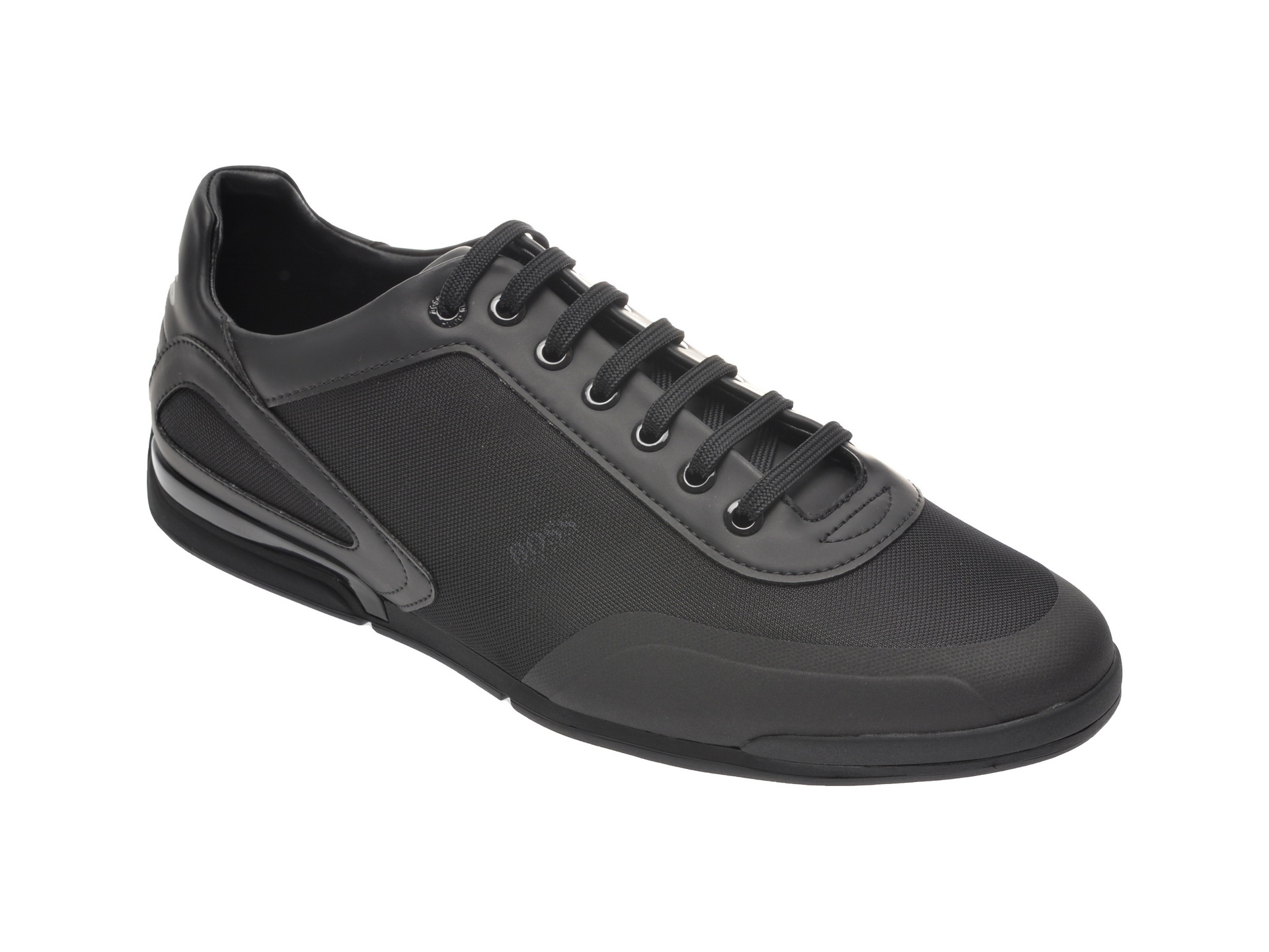 Pantofi sport HUGO BOSS negri, 8234, din material textil si piele ecologica imagine