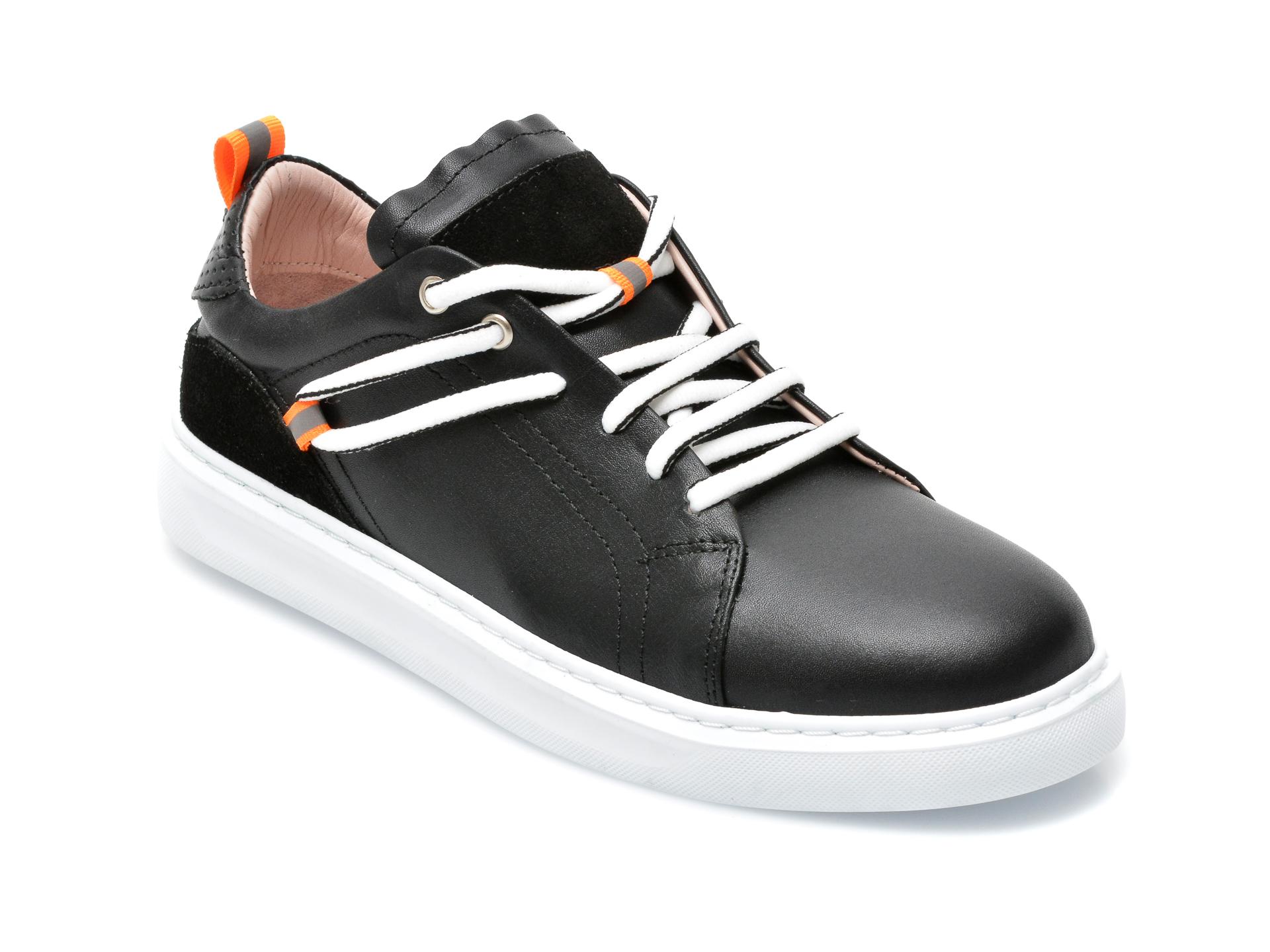 Pantofi Sport Image Negri, 89077, Din Piele Naturala