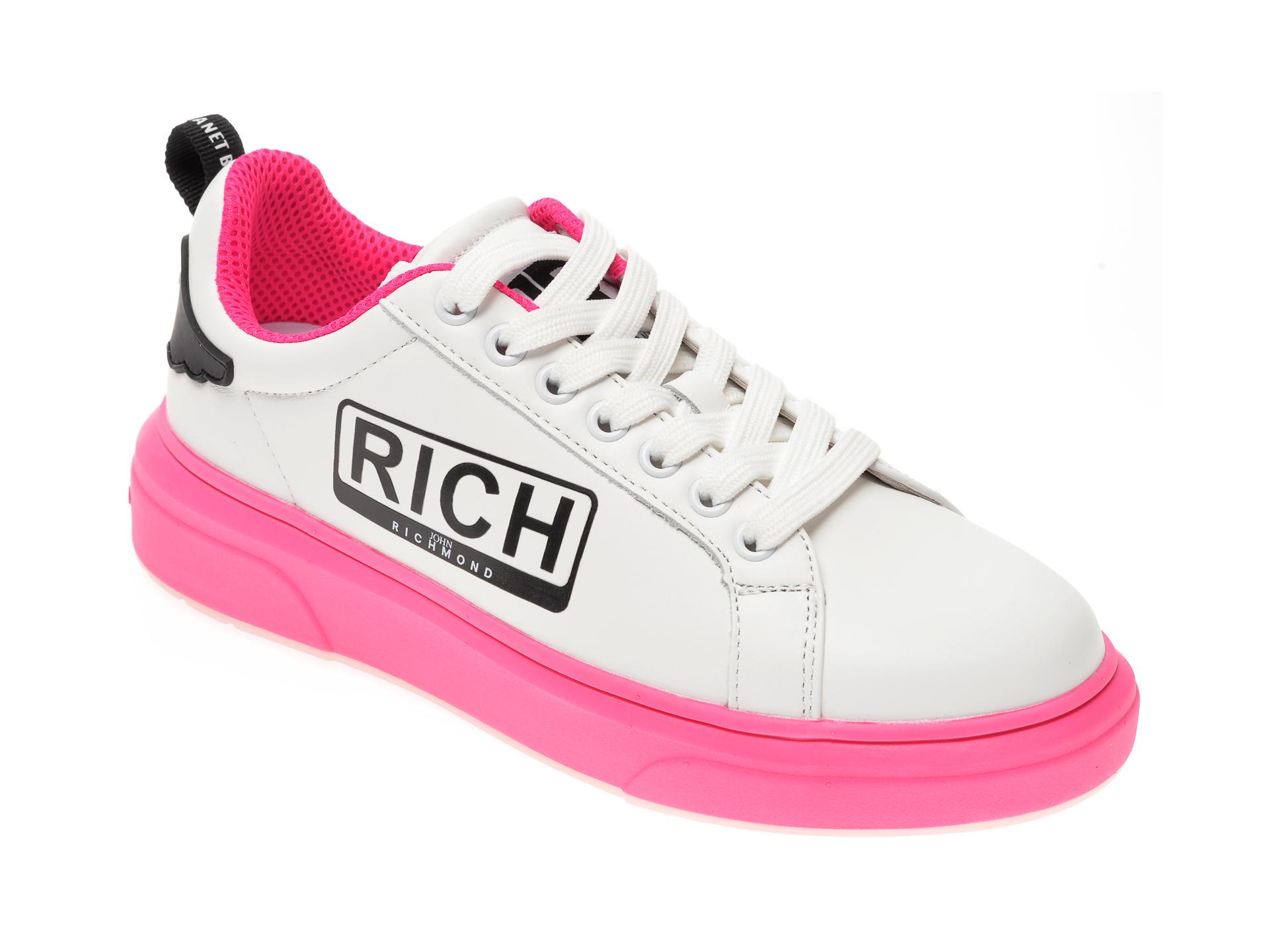 Pantofi sport JOHN RICHMOND albi, 1226, din piele naturala