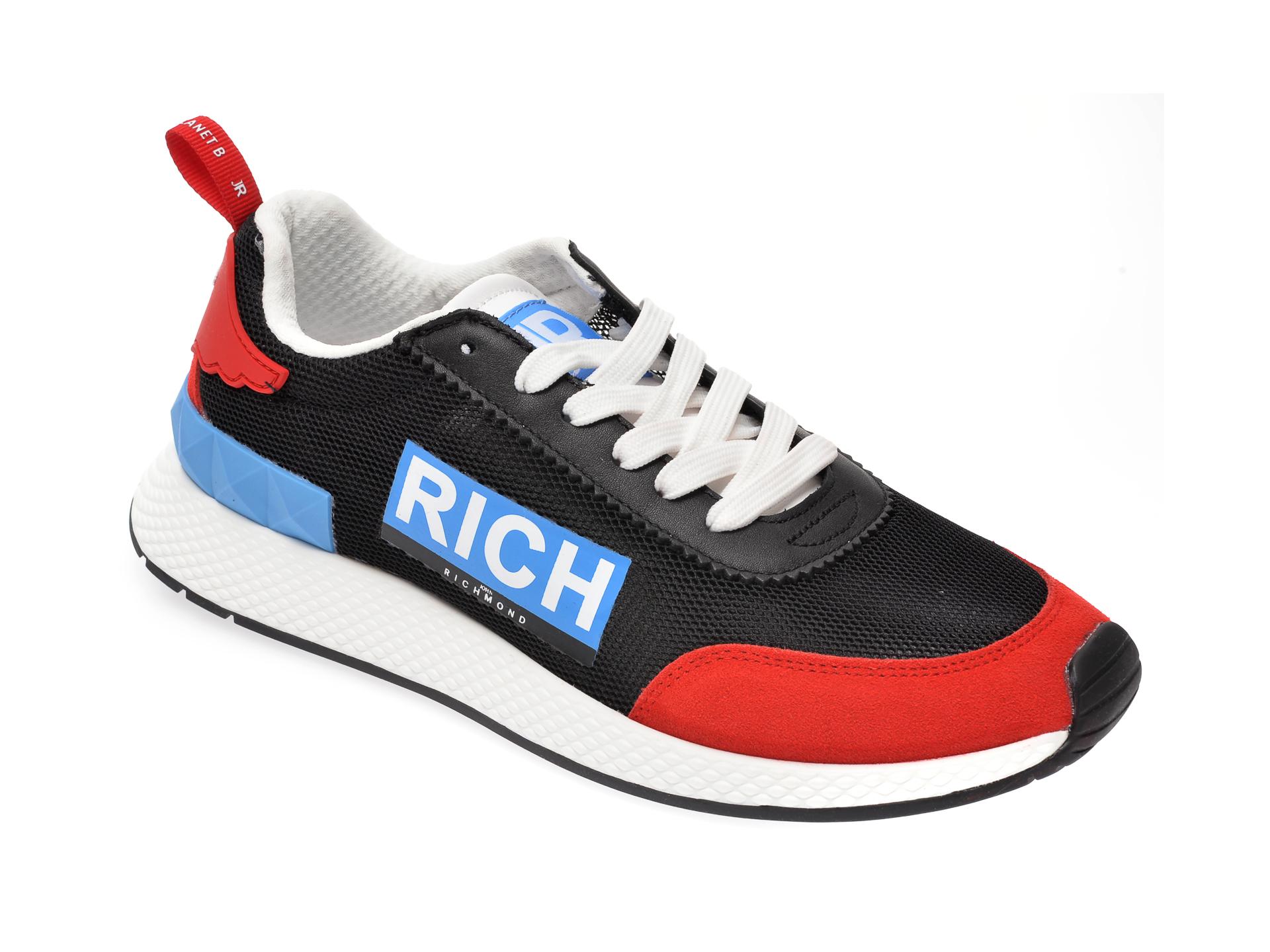 Pantofi sport JOHN RICHMOND negri, 1324, din material textil