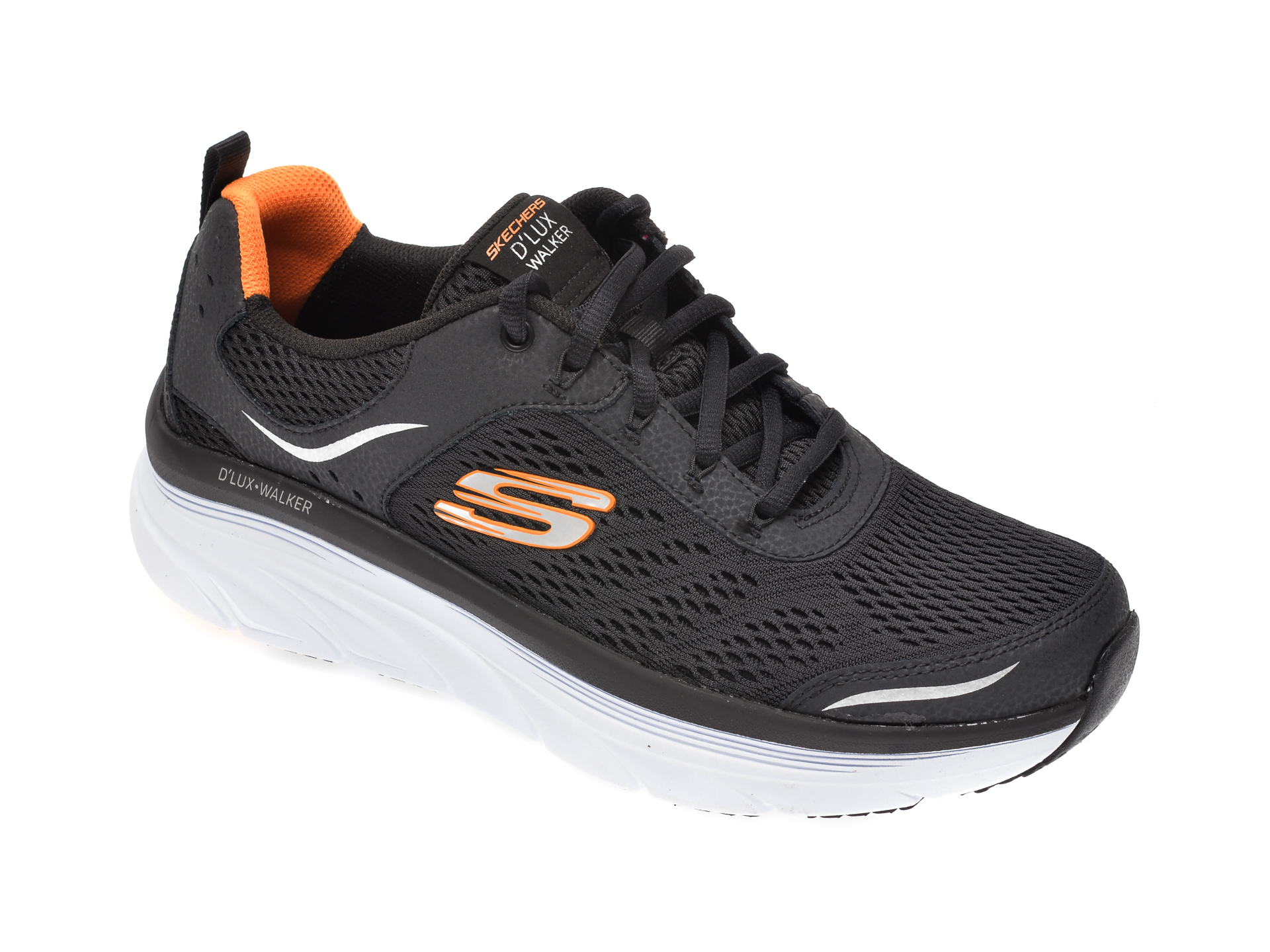 Pantofi sport KECHERS negri, 232044, din material textil imagine