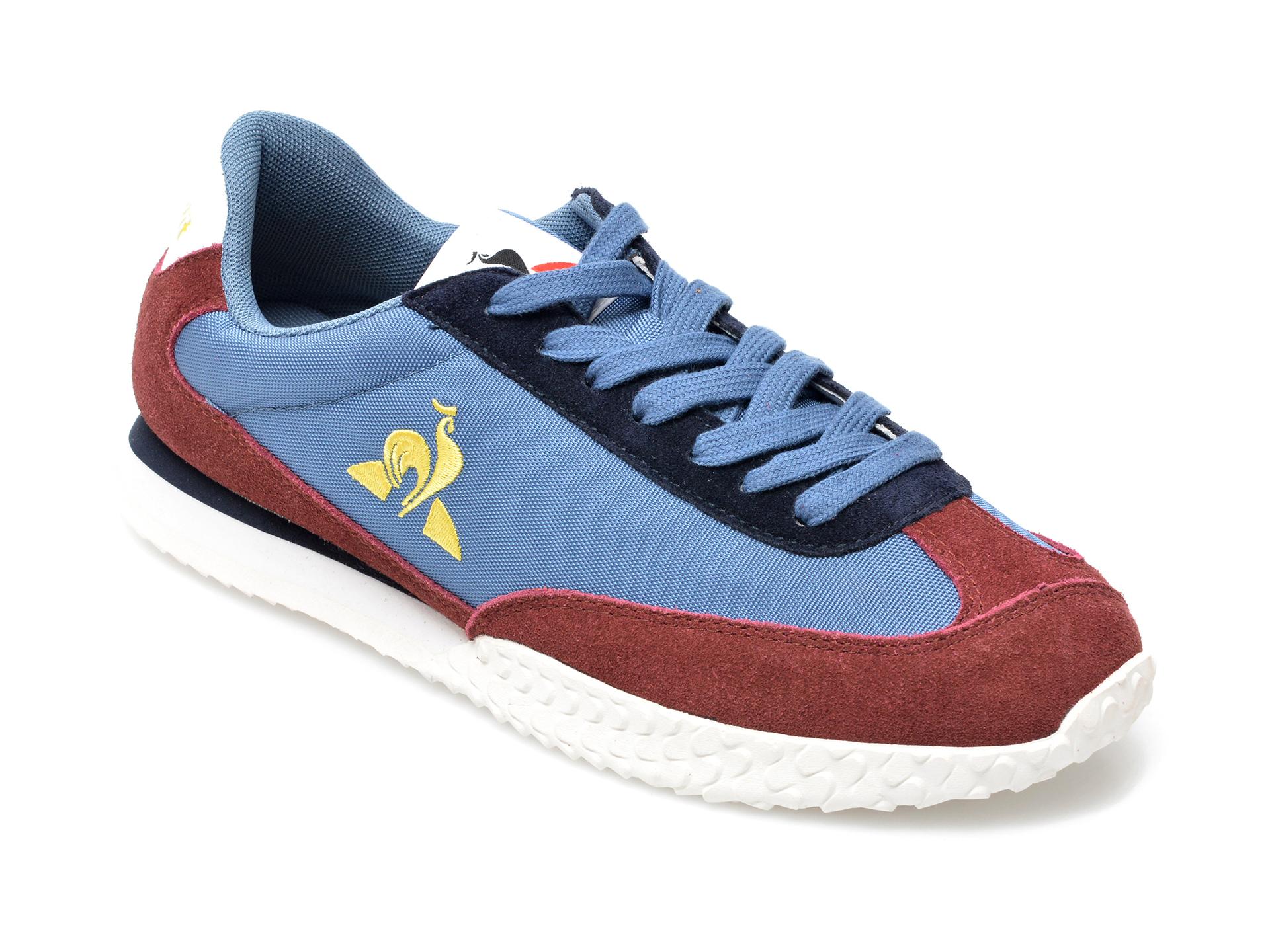 Pantofi Sport Le Coq Sportif Albastri, Veloce, Din Material Textil Si Piele Intoarsa