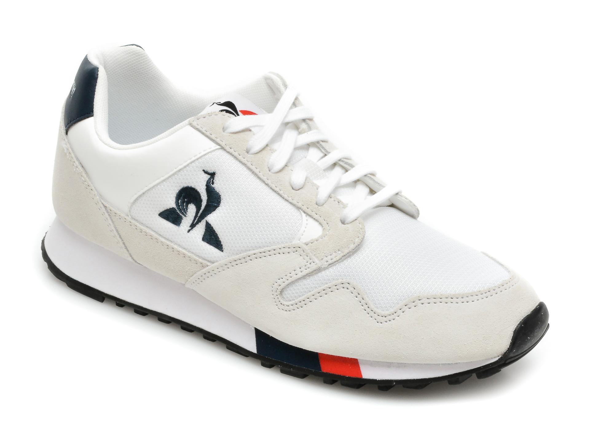 Pantofi sport LE COQ SPORTIF albi, Manta, din material textil si piele naturala imagine otter.ro