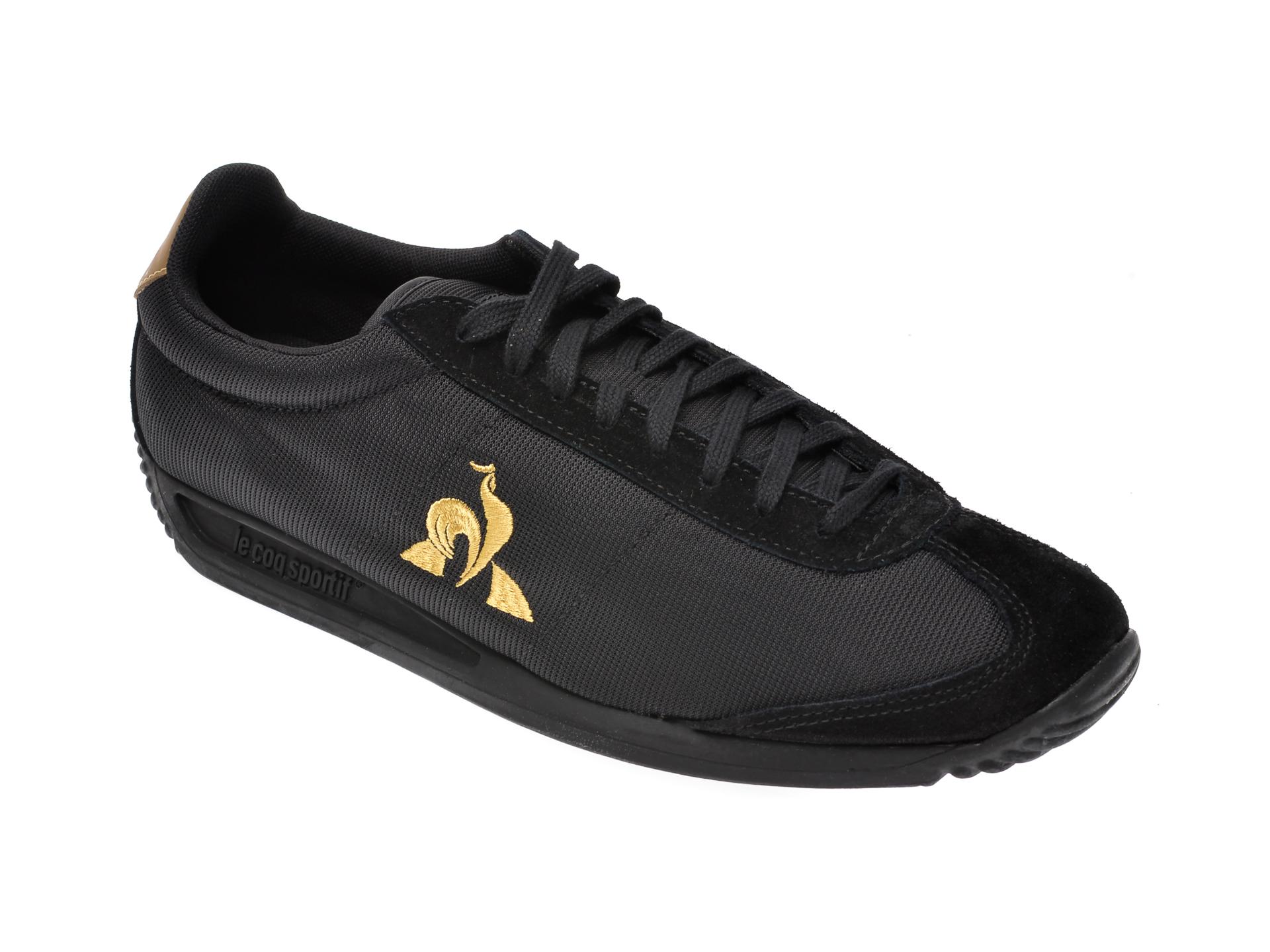 Pantofi sport LE COQ SPORTIF negri, 2010304, din material textil imagine