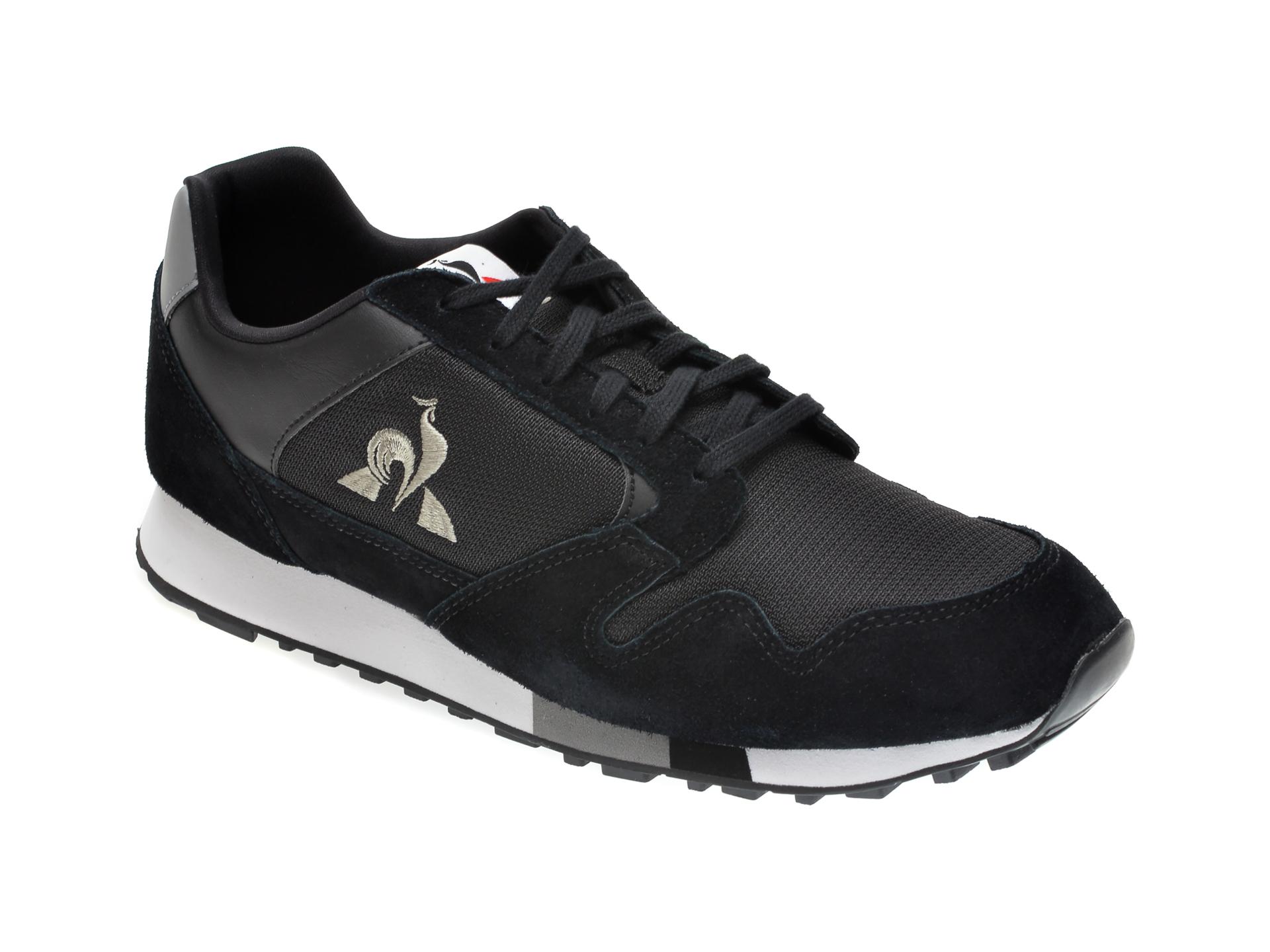 Pantofi sport LE COQ SPORTIF negri, 2020299, din material textil si piele intoarsa imagine otter.ro 2021