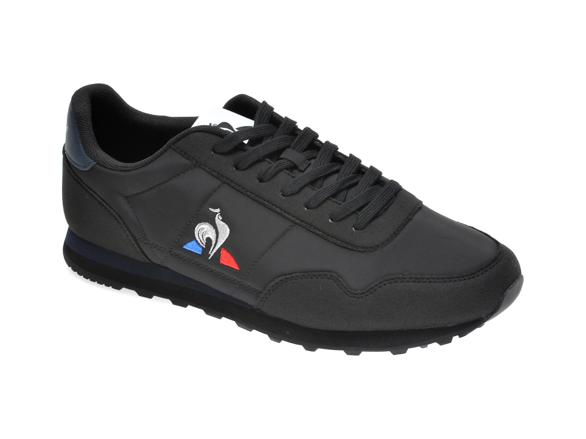 Pantofi sport LE COQ SPORTIF negri, 2020349, din material textil si piele ecologica imagine