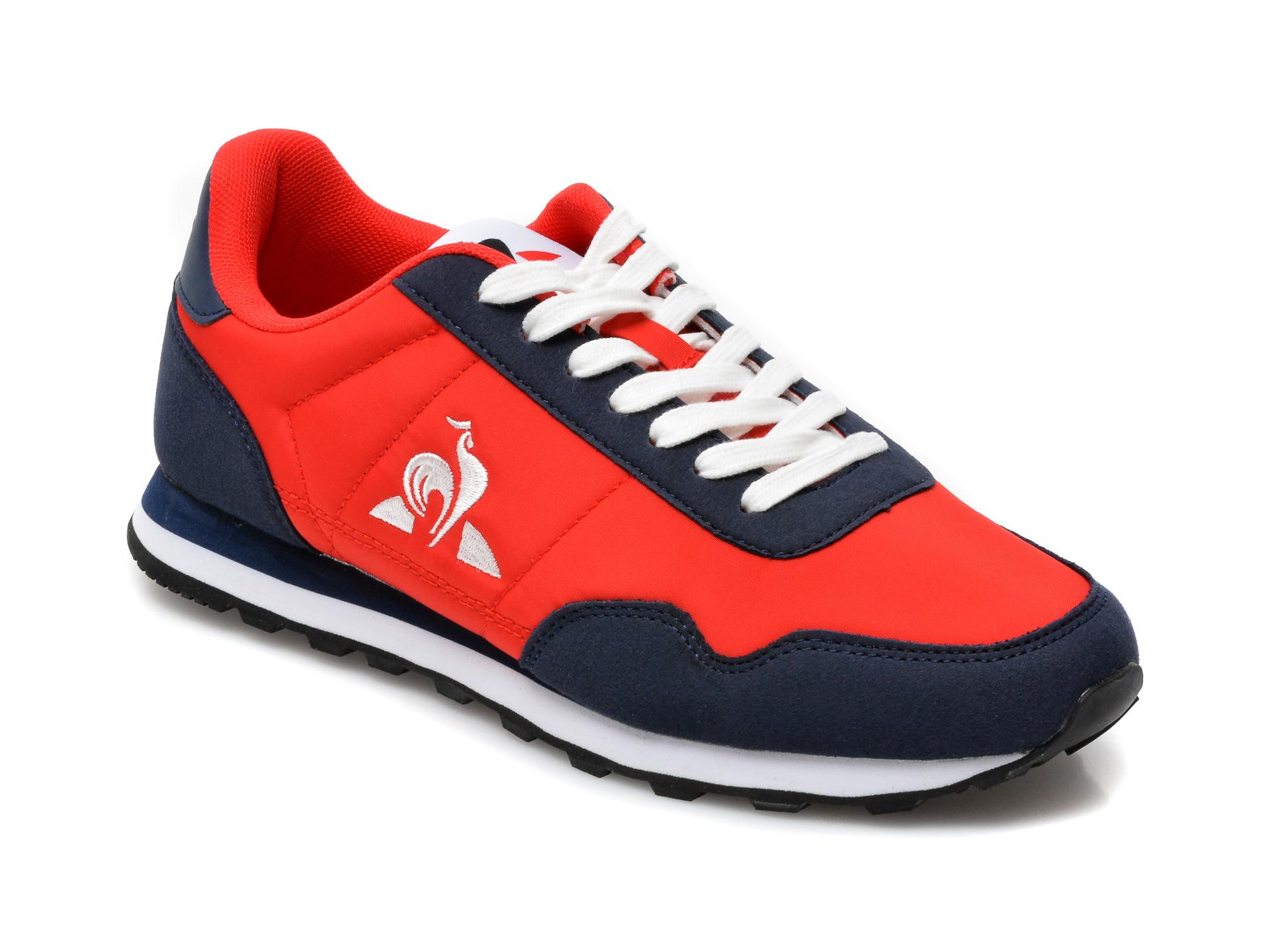 Pantofi sport LE COQ SPORTIF rosii, Astra, din material textil si piele ecologica imagine otter.ro 2021