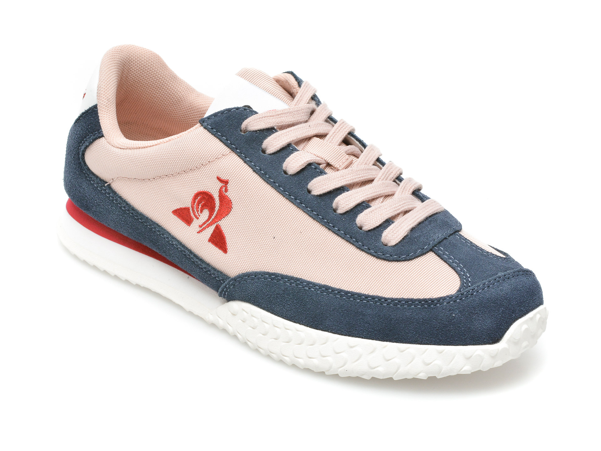 Pantofi sport LE COQ SPORTIF roz, Veloce W, din material textil si piele intoarsa imagine otter.ro