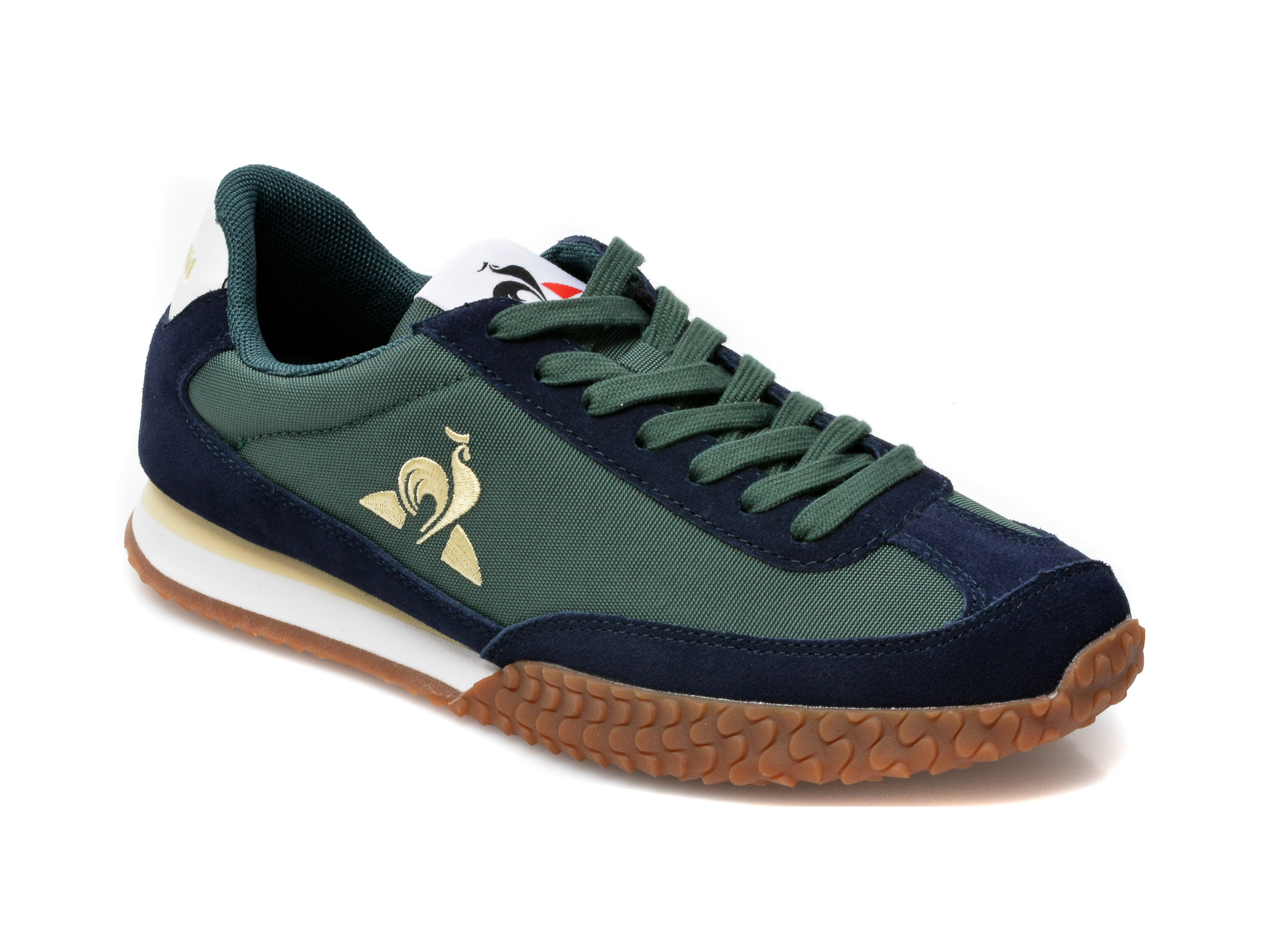 Pantofi sport LE COQ SPORTIF verzi, Veloce, din material textil si piele naturala imagine otter.ro 2021