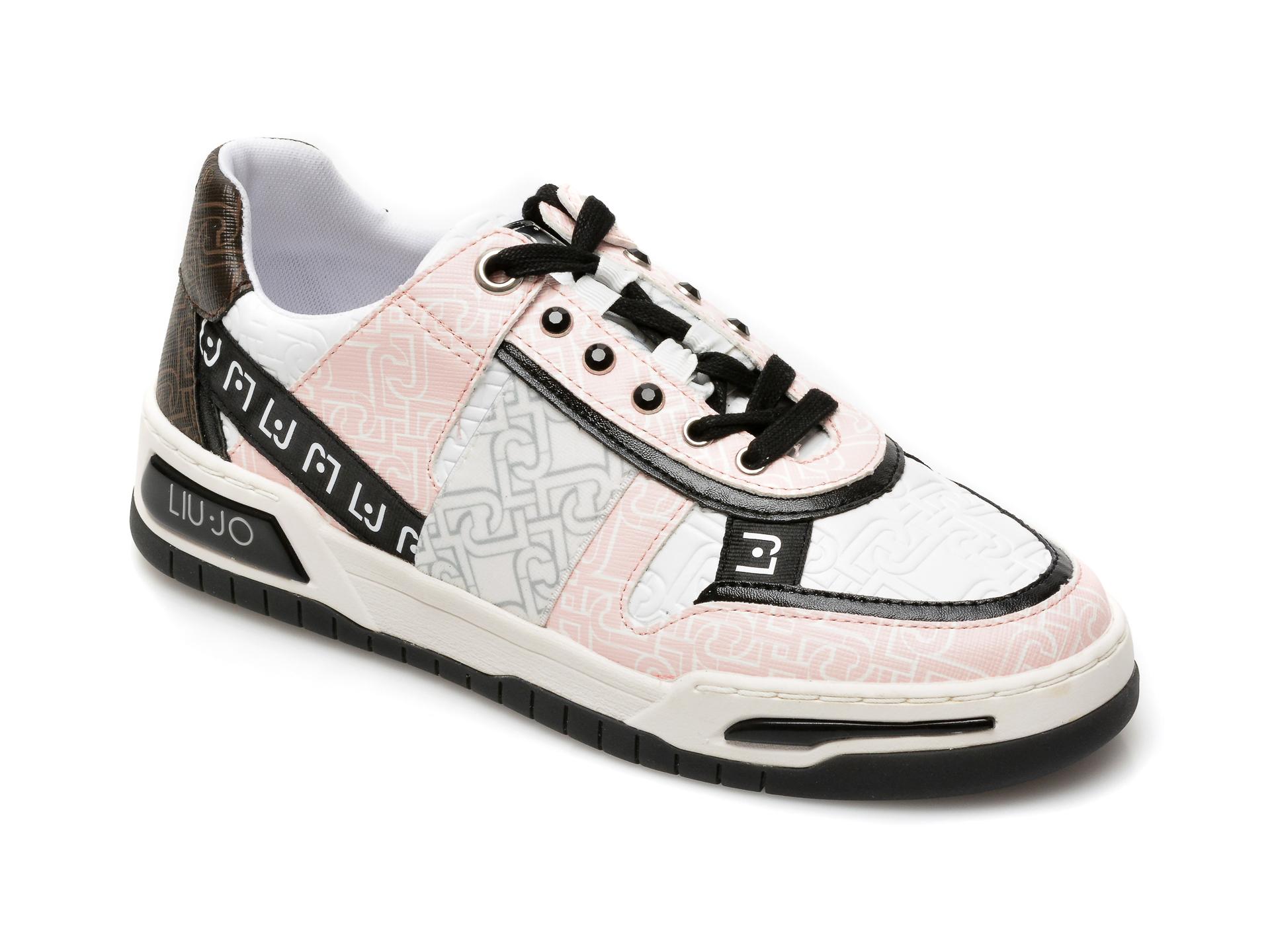 Pantofi sport LIU JO albi, Gyn 05, din piele ecologica