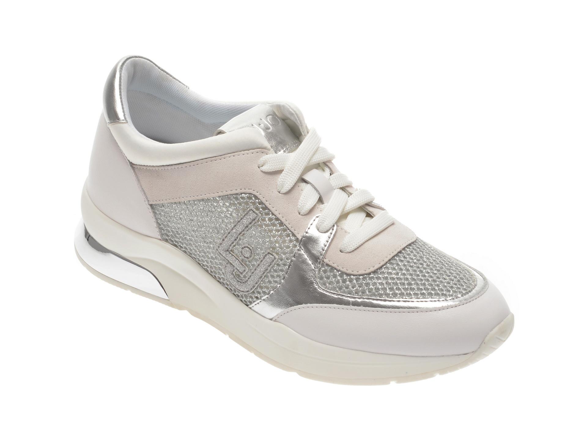 Pantofi sport LIU JO albi, KARL12, din material textil si piele ecologica