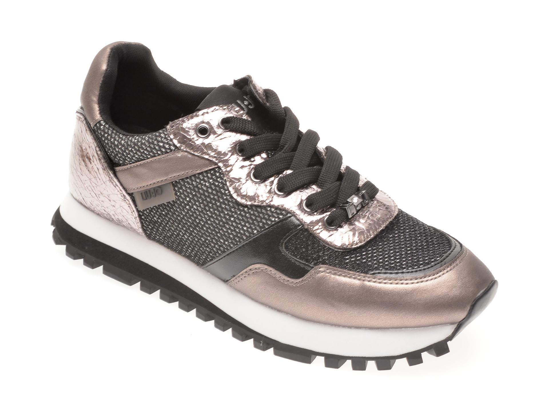 Pantofi sport LIU JO gri, WONDER, din material textil si piele ecologica