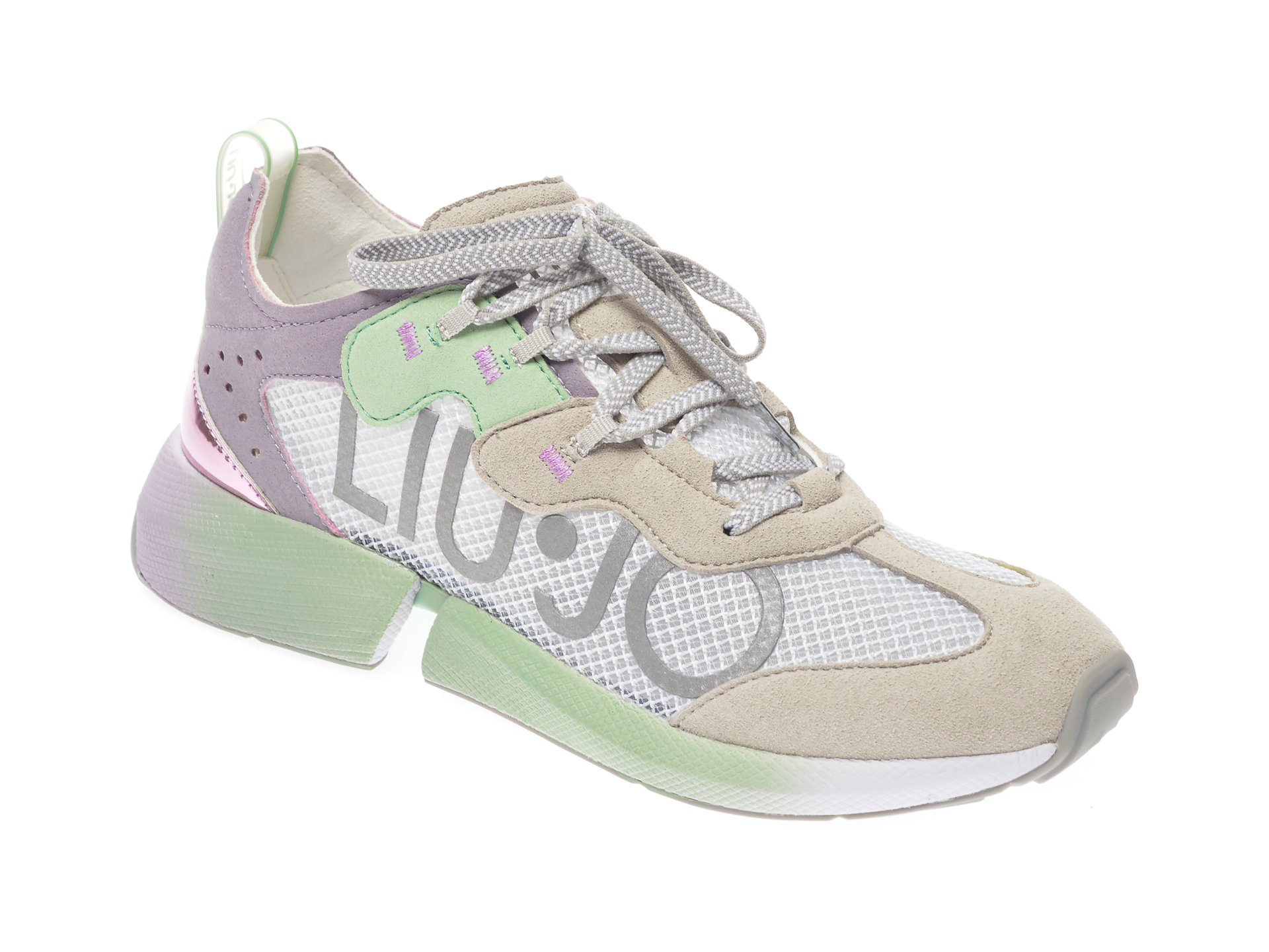 Pantofi sport LIU JO gri, YULIA04, din piele intoarsa