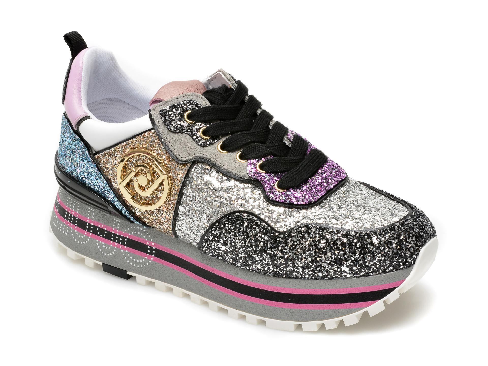 Pantofi sport LIU JO multicolori, Maxi Wonder 24, din piele ecologica New