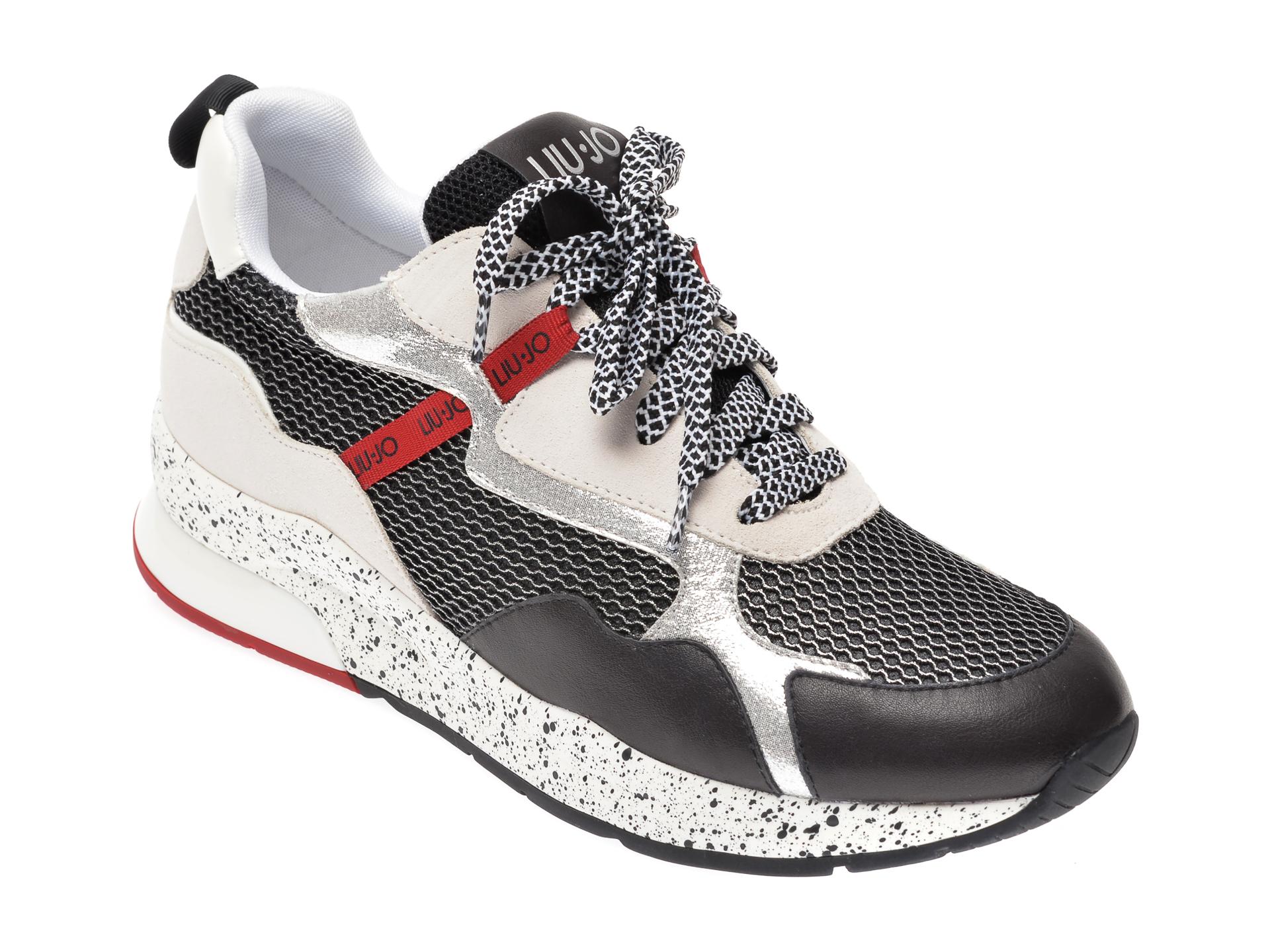 Pantofi sport LIU JO negri, KARL35, din material textil si piele naturala