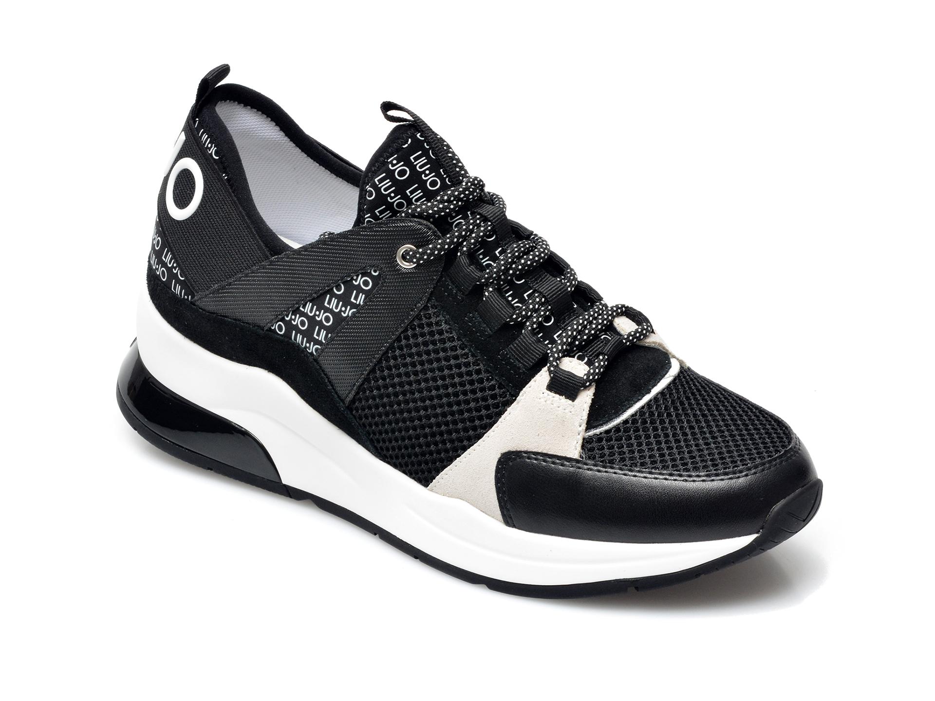 Pantofi sport LIU JO negri, Karlie 55, din material textil si piele intoarsa