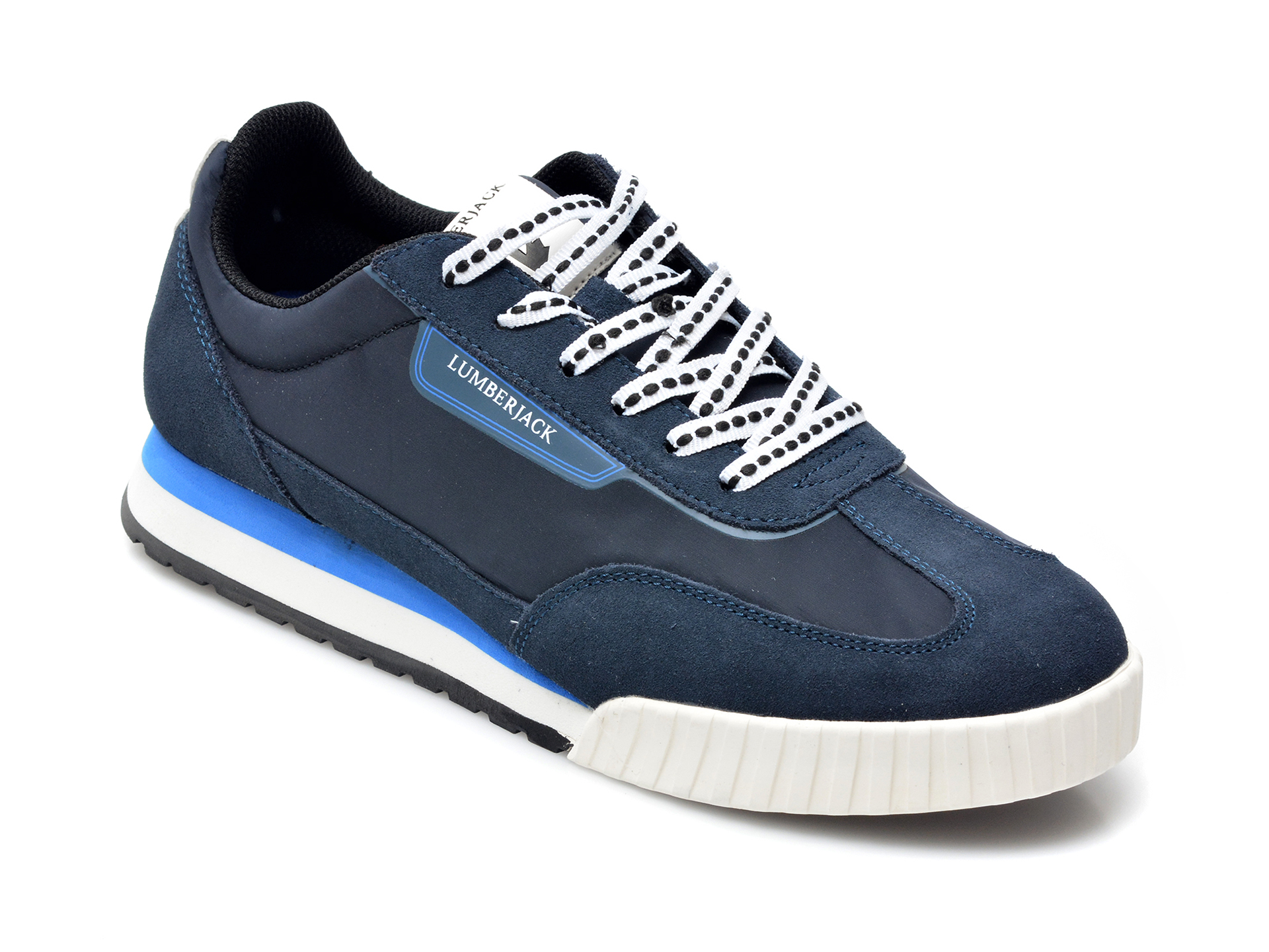 Pantofi sport LUMBERJACK bleumarin, 8161002, din material textil si piele intoarsa imagine otter.ro 2021