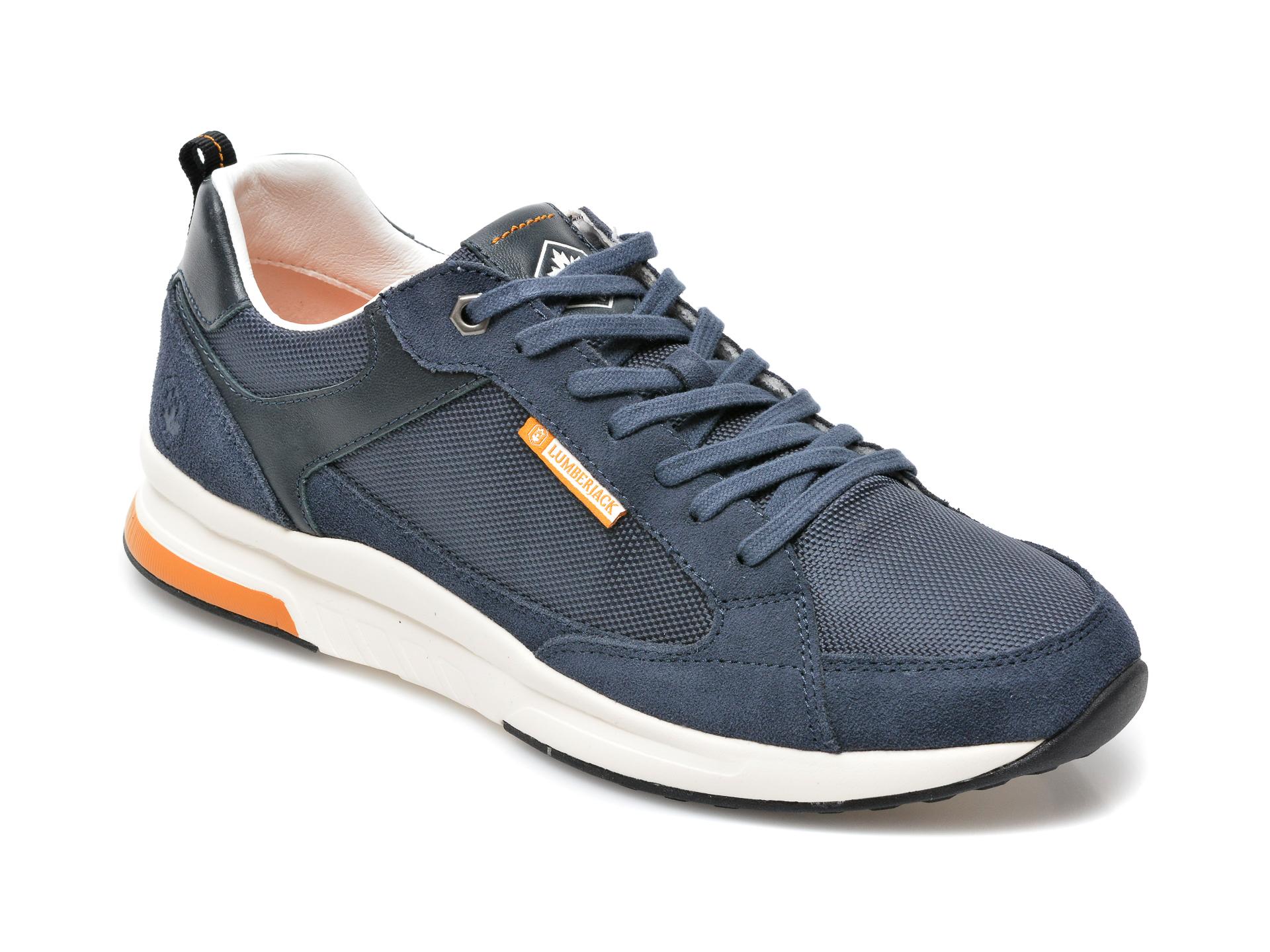 Pantofi sport LUMBERJACK bleumarin, 8701005, din material textil si piele intoarsa