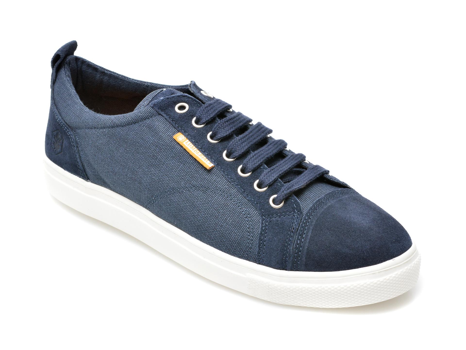 Pantofi Sport Lumberjack Bleumarin, B551002, Din Material Textil Si Piele Intoarsa