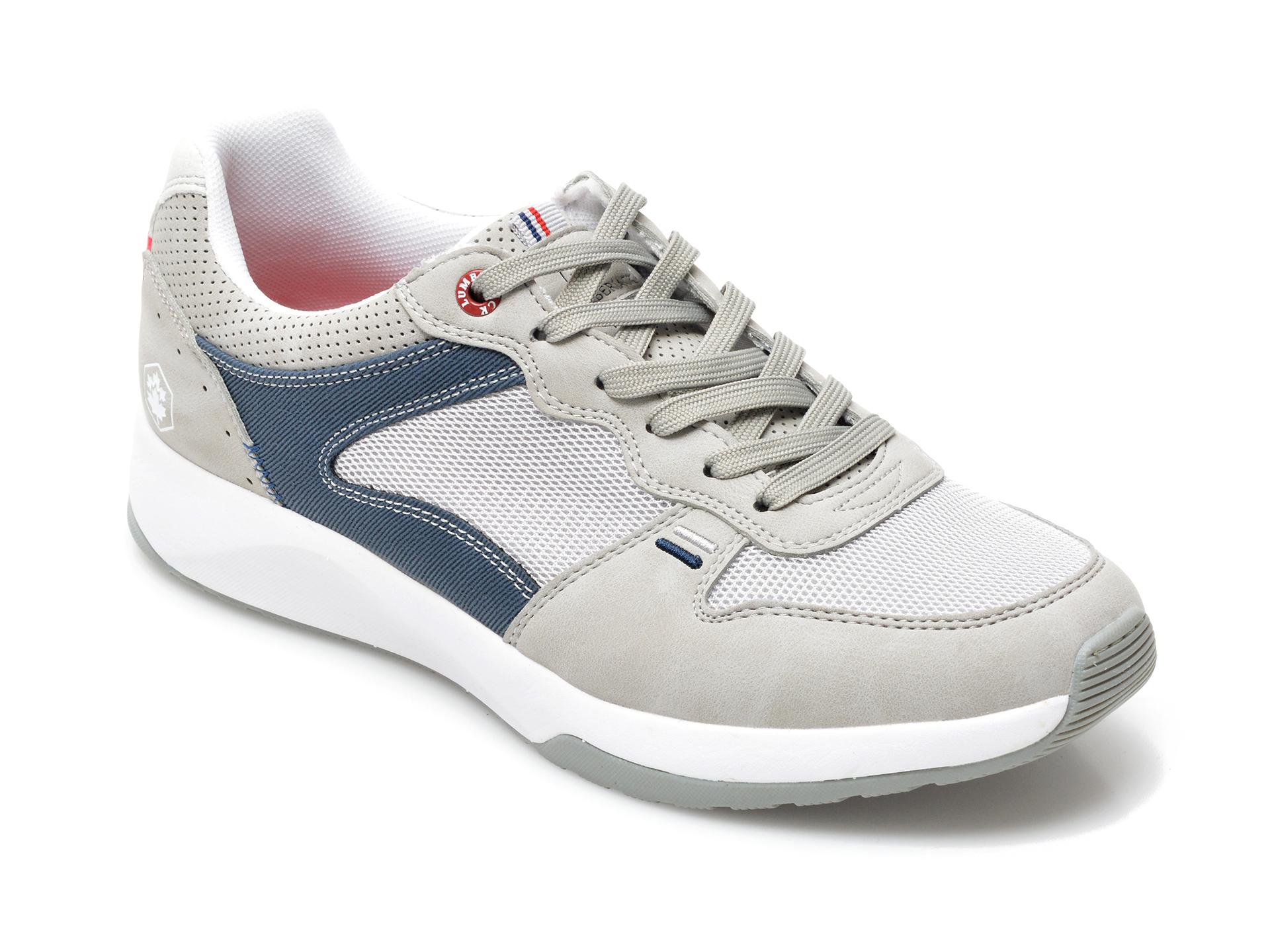 Pantofi Sport Lumberjack Gri, 8651005, Din Material Textil Si Piele Ecologica