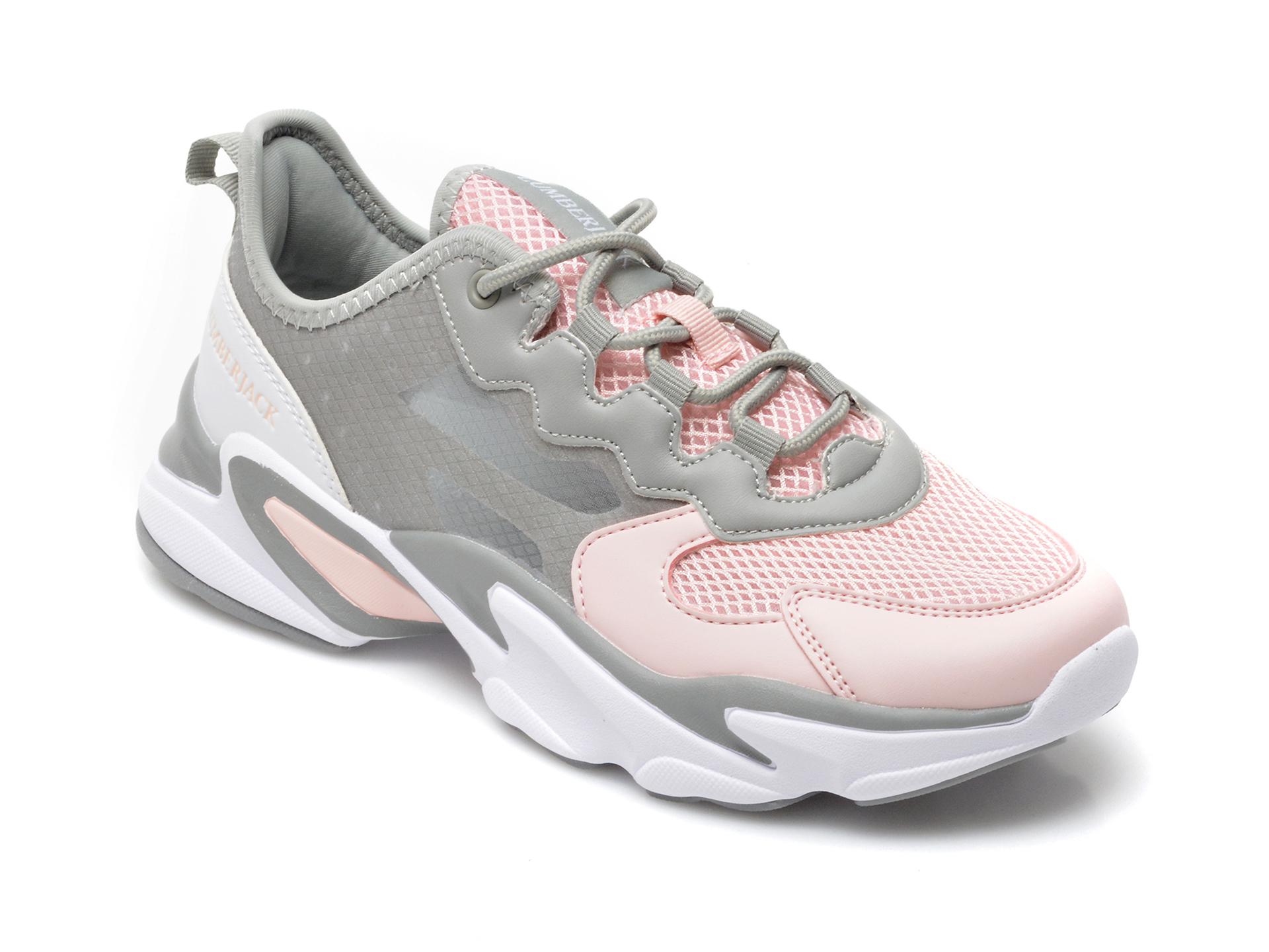 Pantofi sport LUMBERJACK gri, 9711002, din material textil si piele ecologica imagine otter.ro
