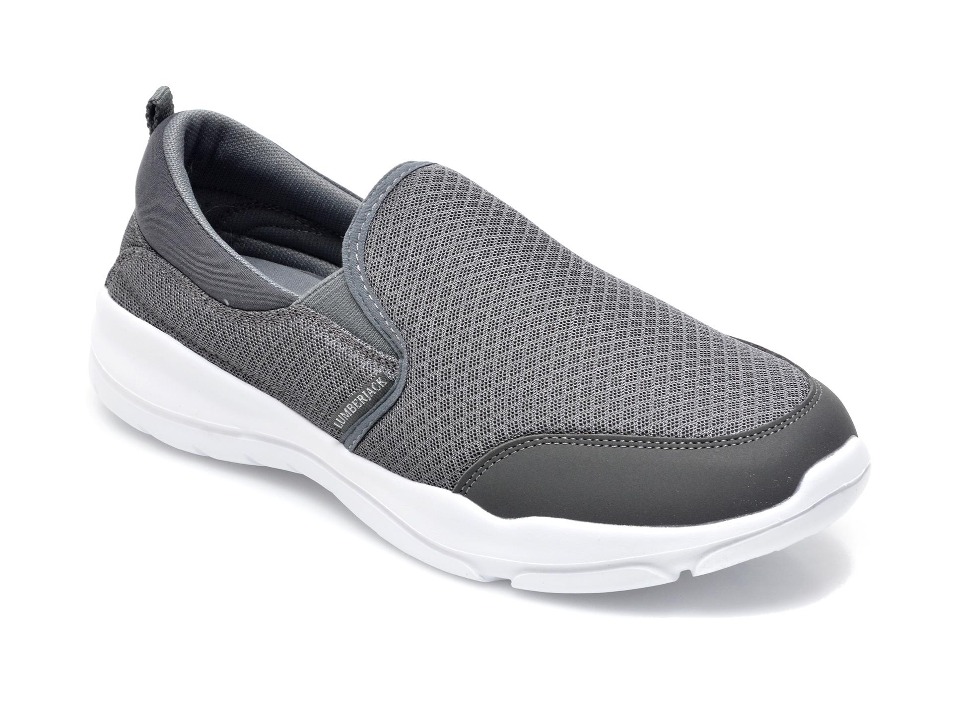 Pantofi Sport Lumberjack Gri, A940001, Din Material Textil