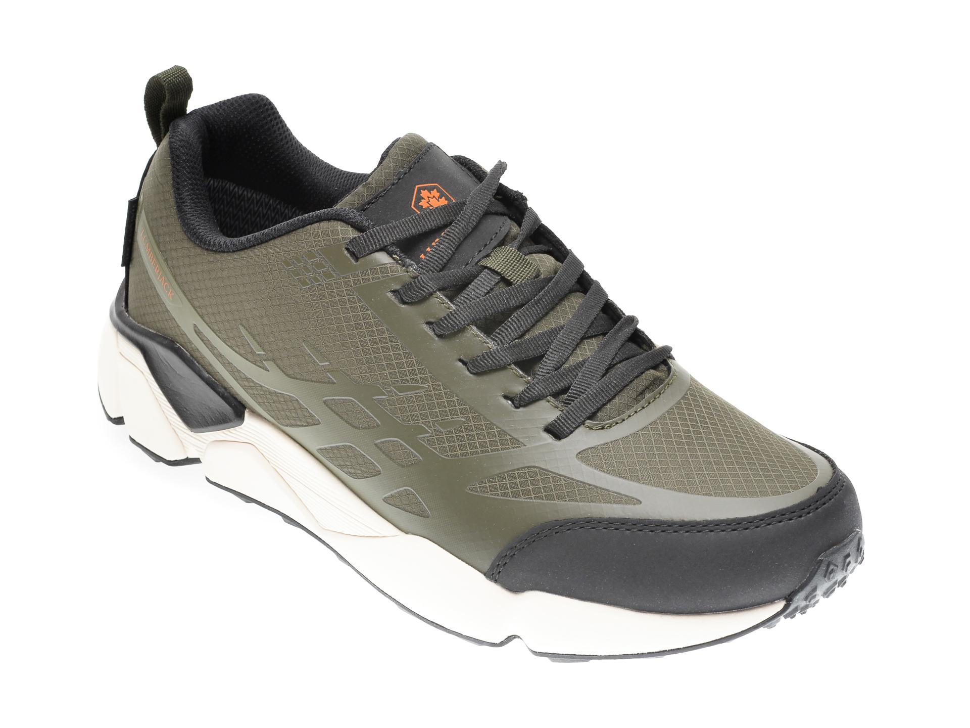 Pantofi sport LUMBERJACK kaki, 611001, din material textil imagine