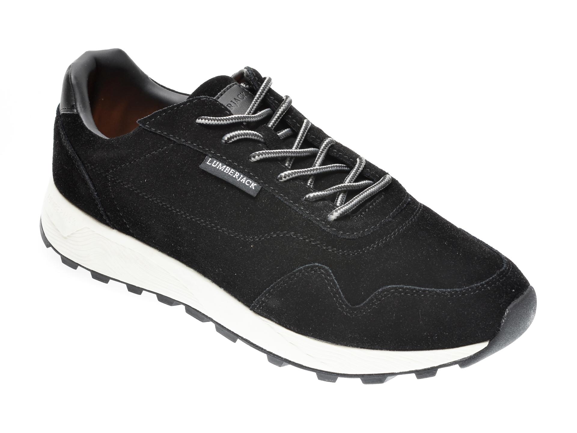 Pantofi sport LUMBERJACK negri, 311002, din piele naturala imagine